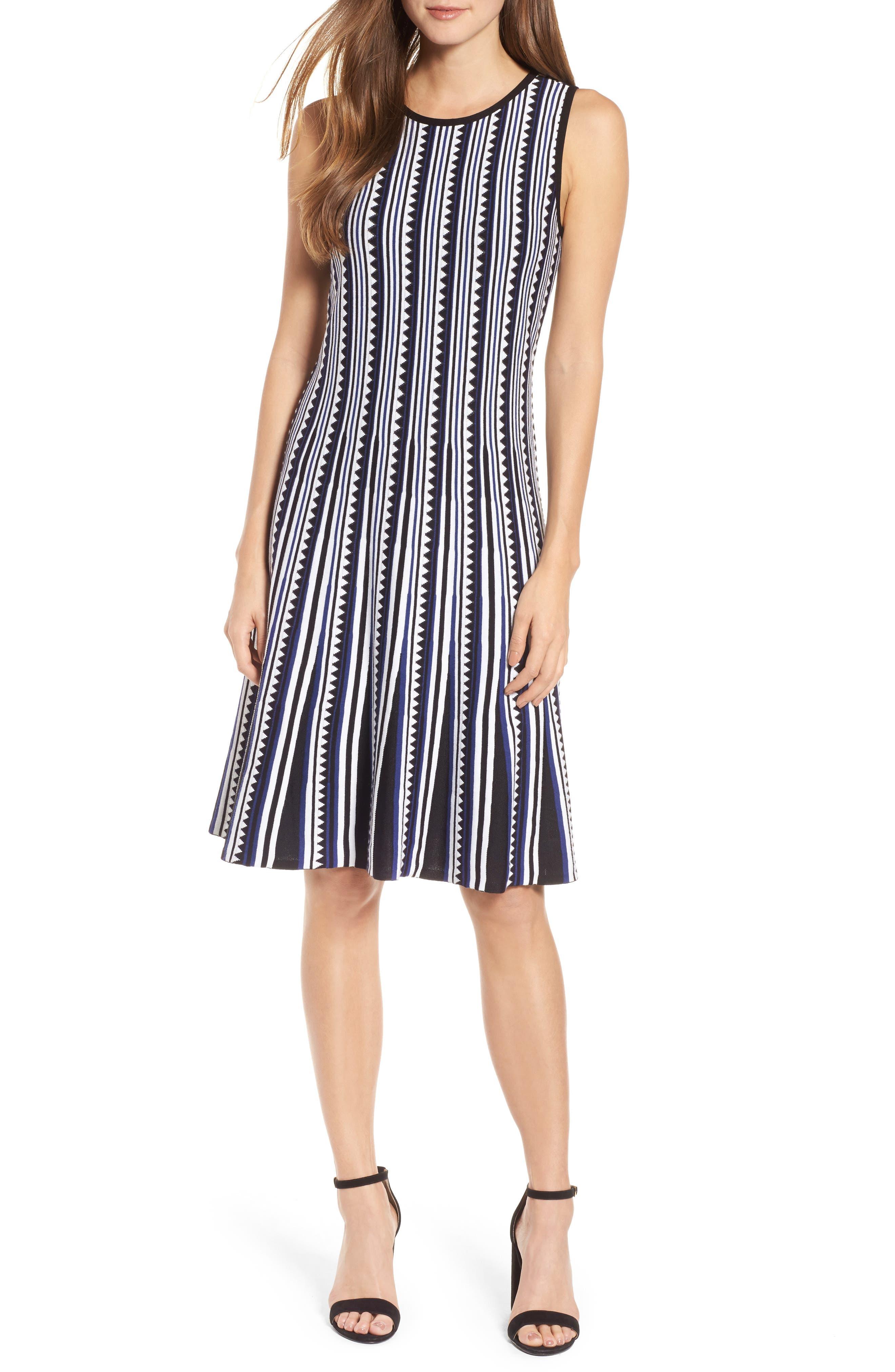 Triangle Knit Twirl Dress,                         Main,                         color,