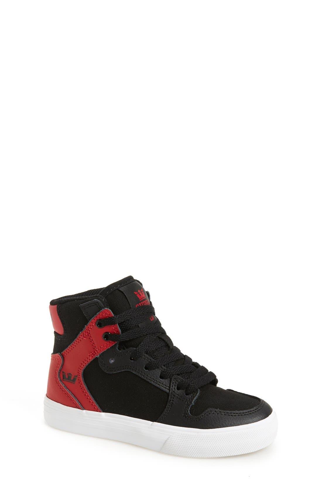 'Vaider' High Top Sneaker,                             Main thumbnail 1, color,                             001