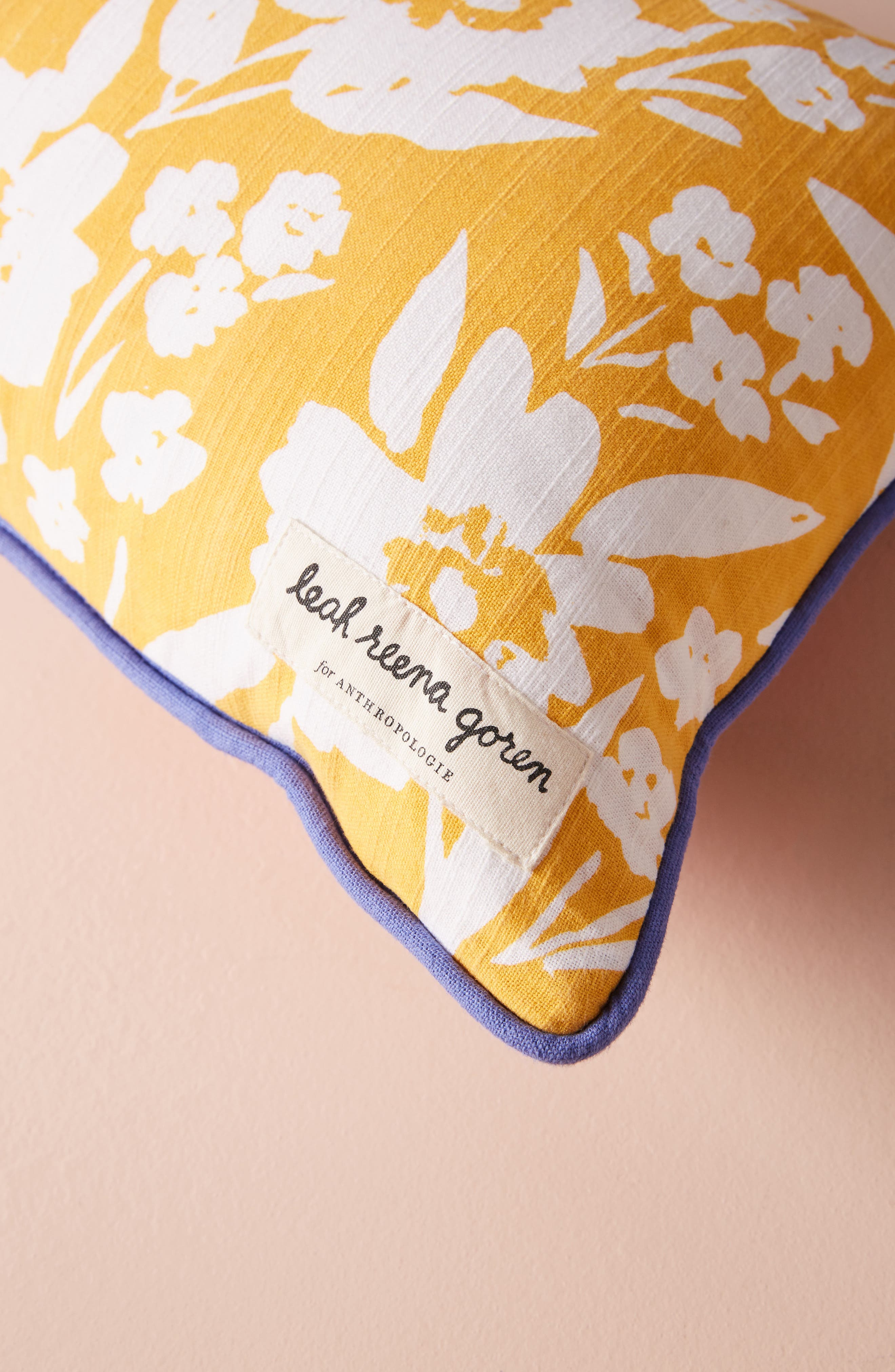 ANTHROPOLOGIE,                             Painted Poppies Accent Pillow,                             Alternate thumbnail 3, color,                             650