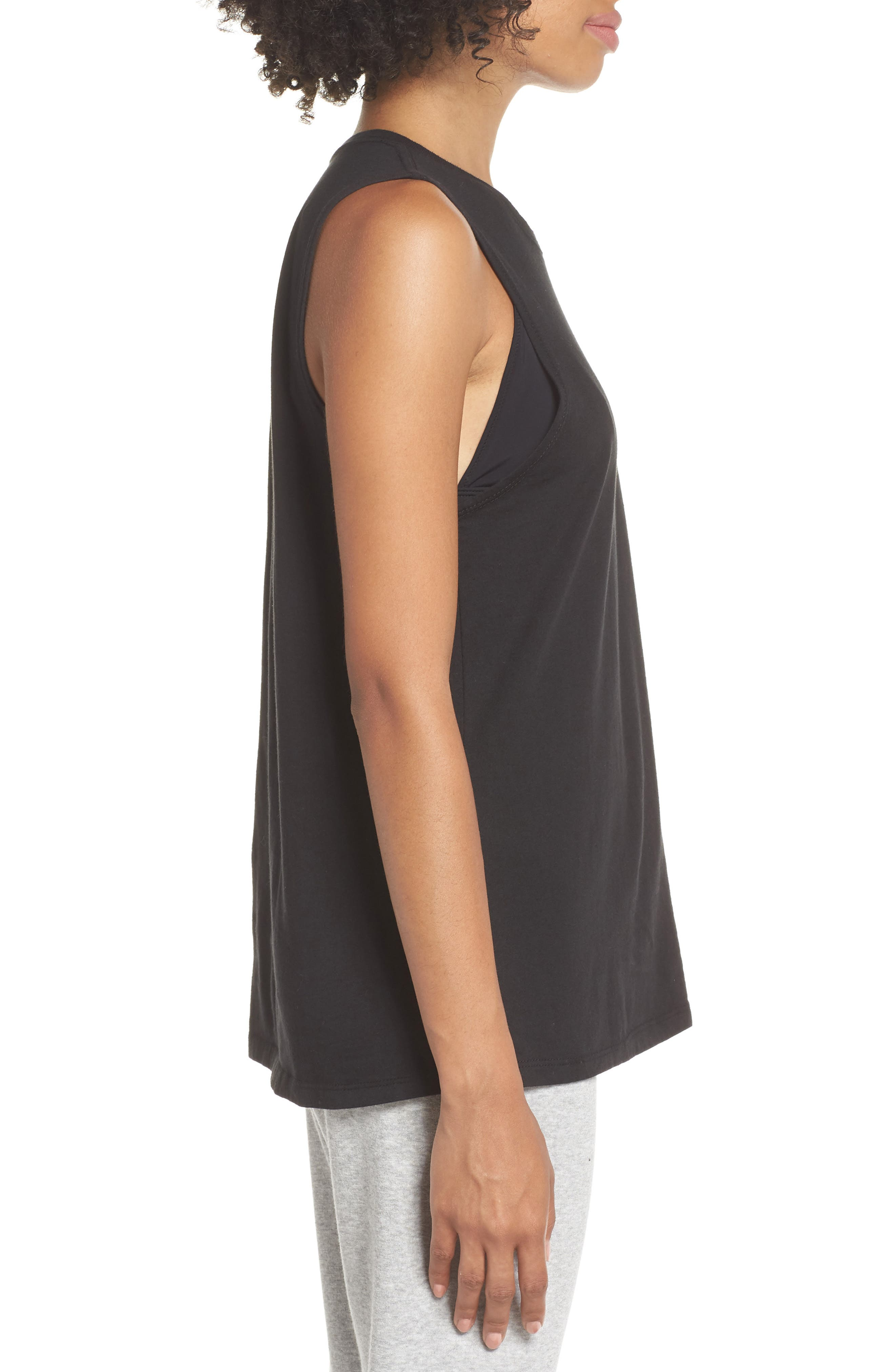 Muscle Tank,                             Alternate thumbnail 3, color,                             BLACK