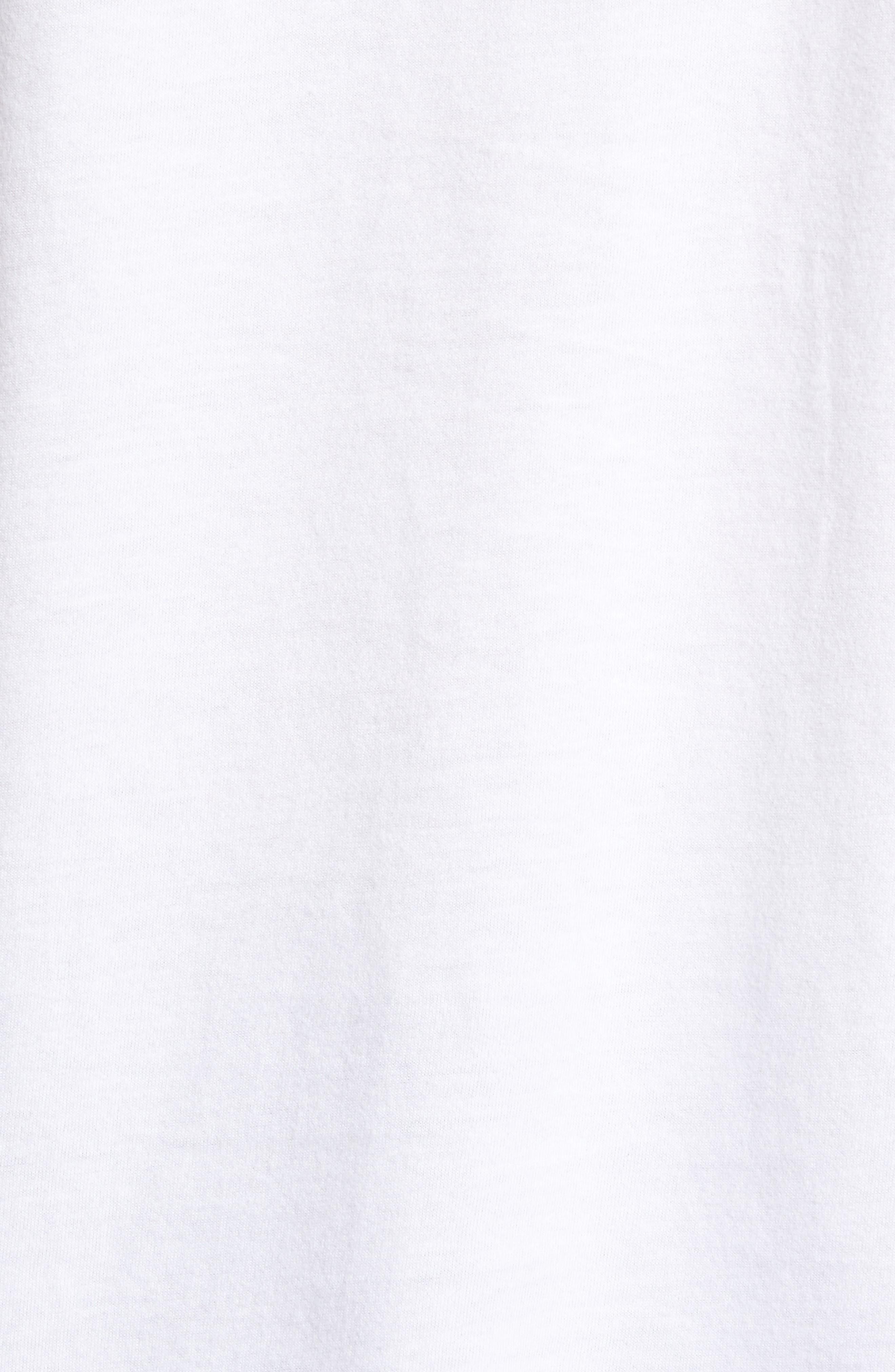 Benjamin Crewneck T-Shirt,                             Alternate thumbnail 5, color,                             WHITE