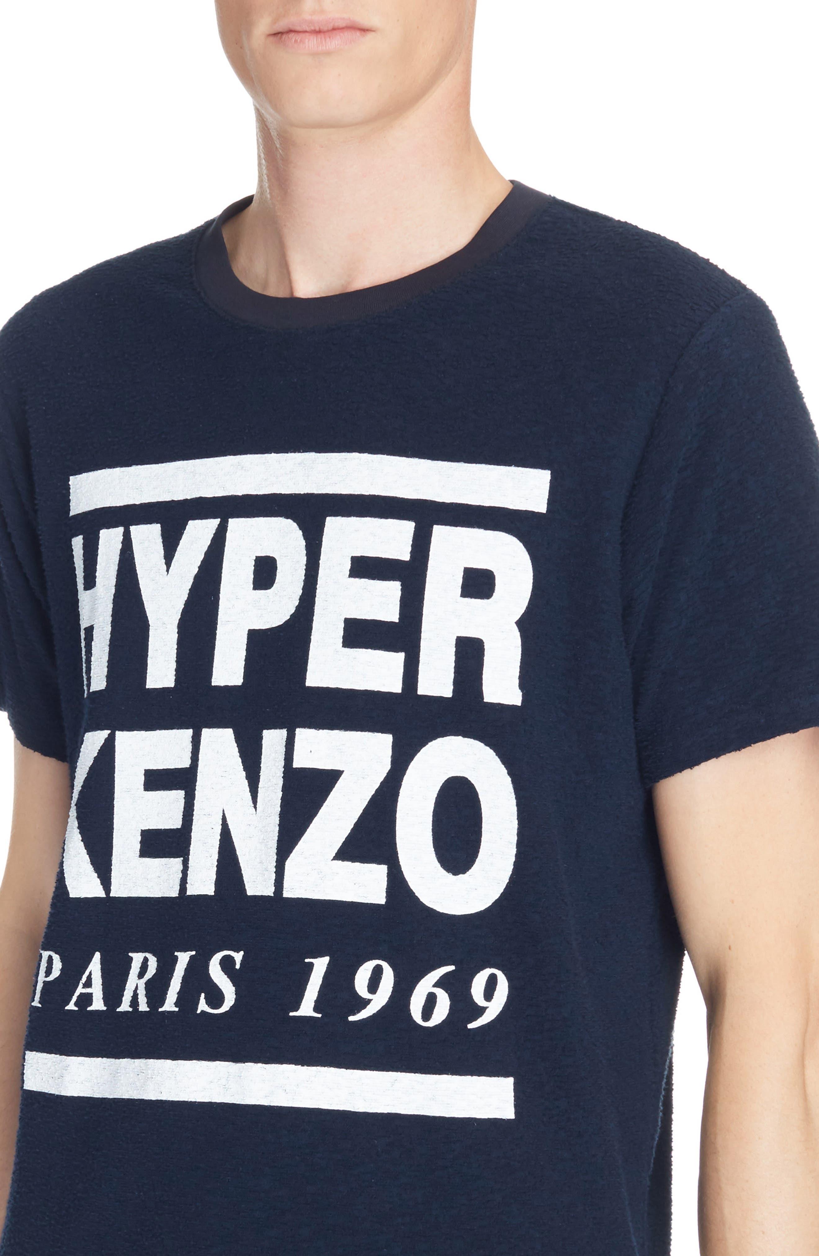 Hyper Kenzo Logo T-Shirt,                             Alternate thumbnail 4, color,                             411