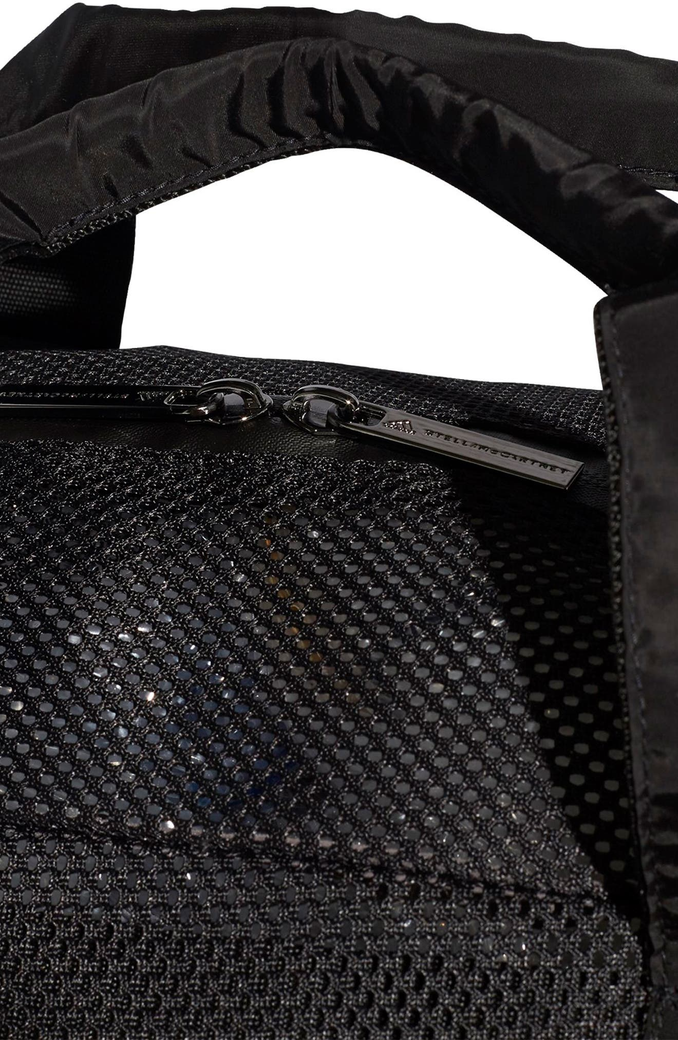 Mesh Yoga Bag,                             Alternate thumbnail 6, color,                             BLACK/ BLACK
