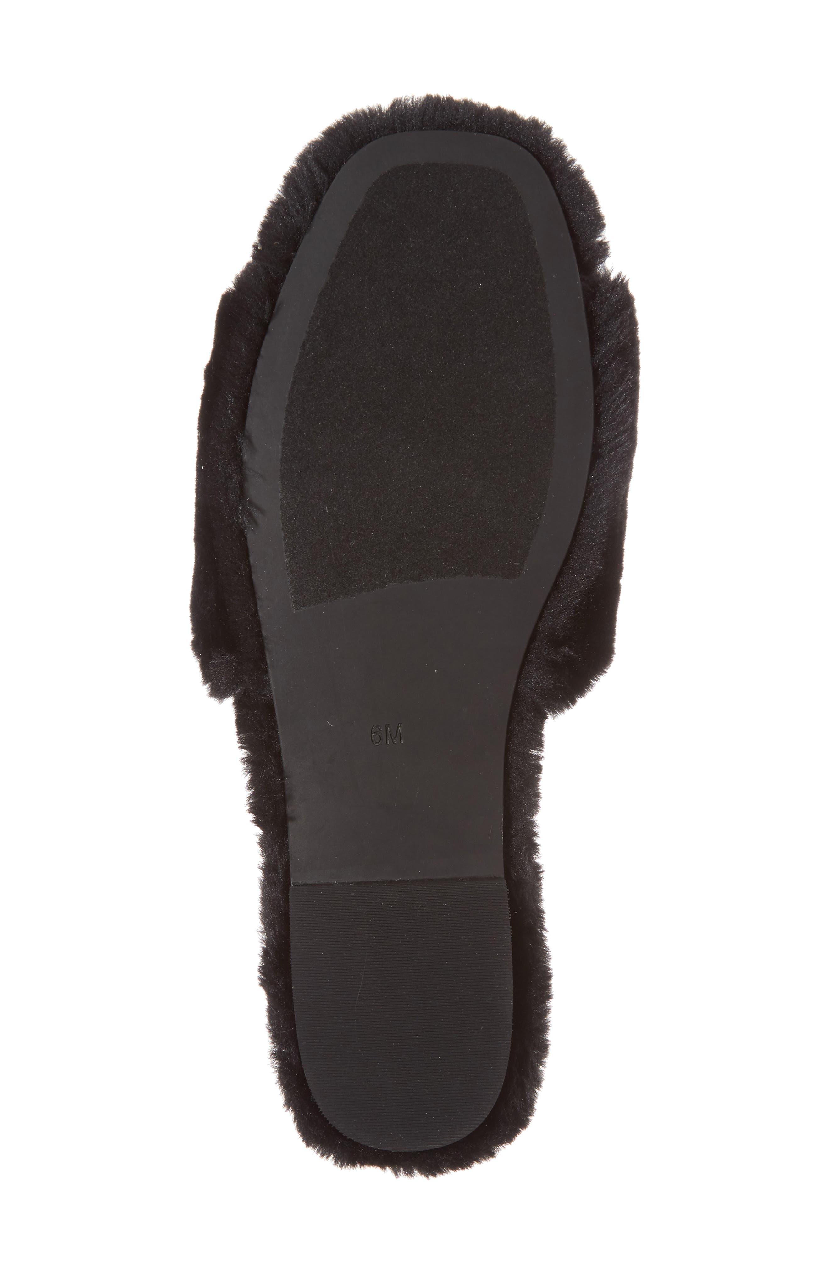 Motel-F Faux Fur Slide Sandal,                             Alternate thumbnail 16, color,