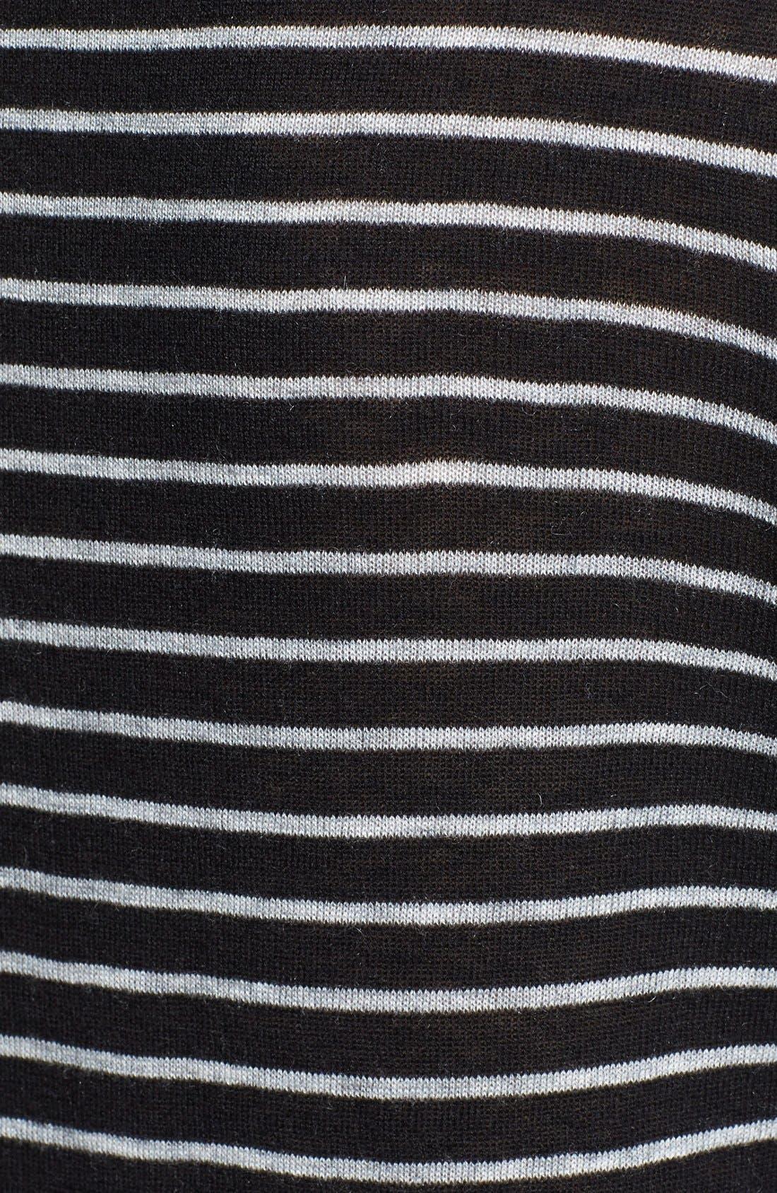 Mini Stripe Sweater,                             Alternate thumbnail 3, color,                             001