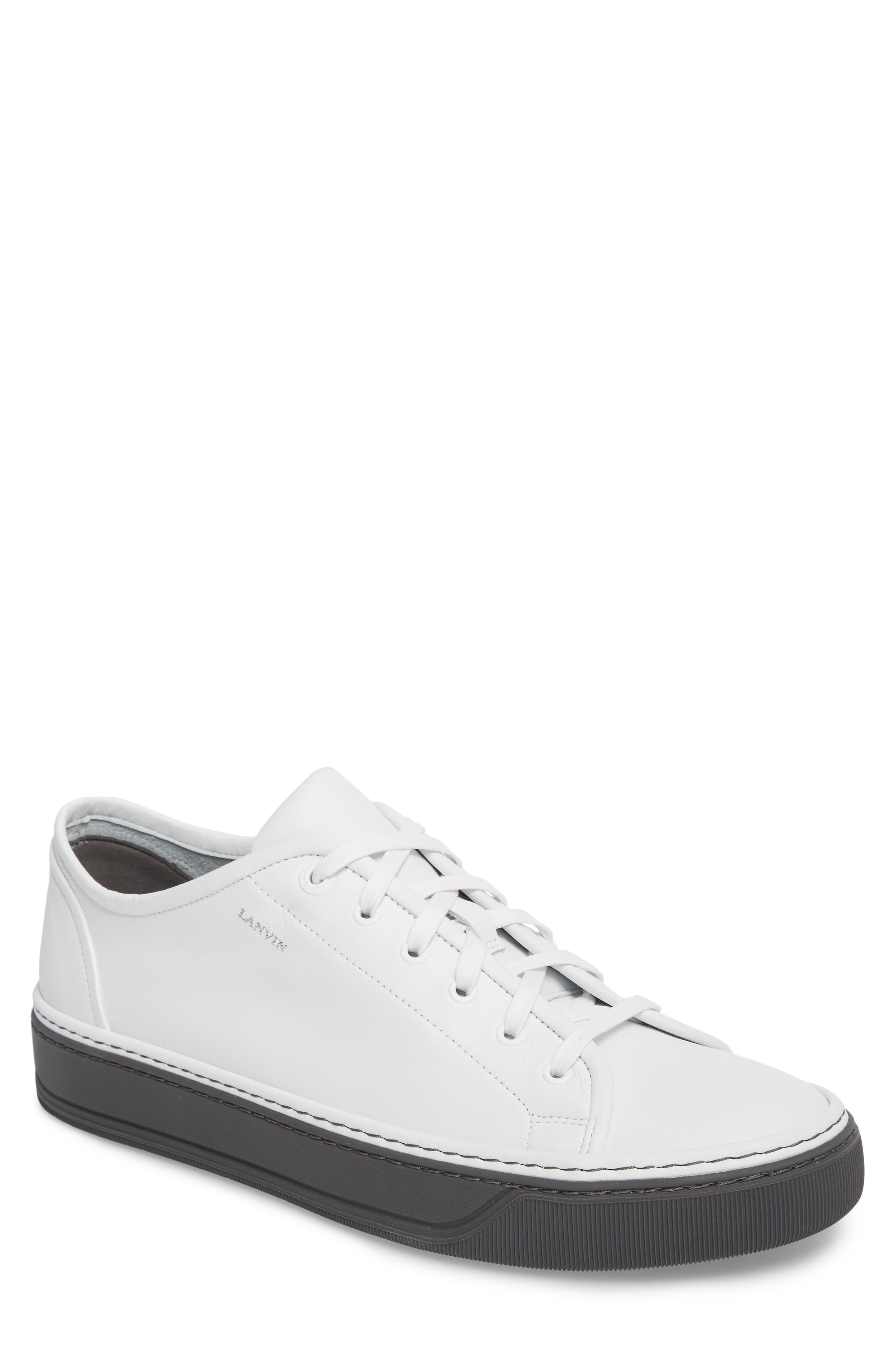 Mini Logo Clean Sneaker,                             Main thumbnail 1, color,                             100