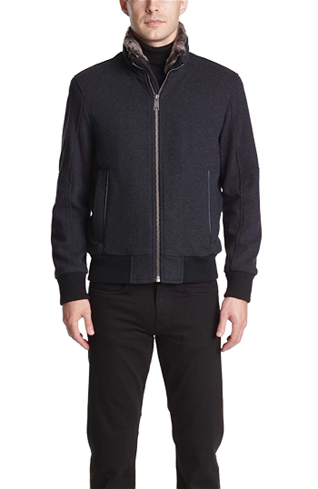 by Andrew Marc 'Troy' Bomber Jacket,                             Alternate thumbnail 3, color,                             029
