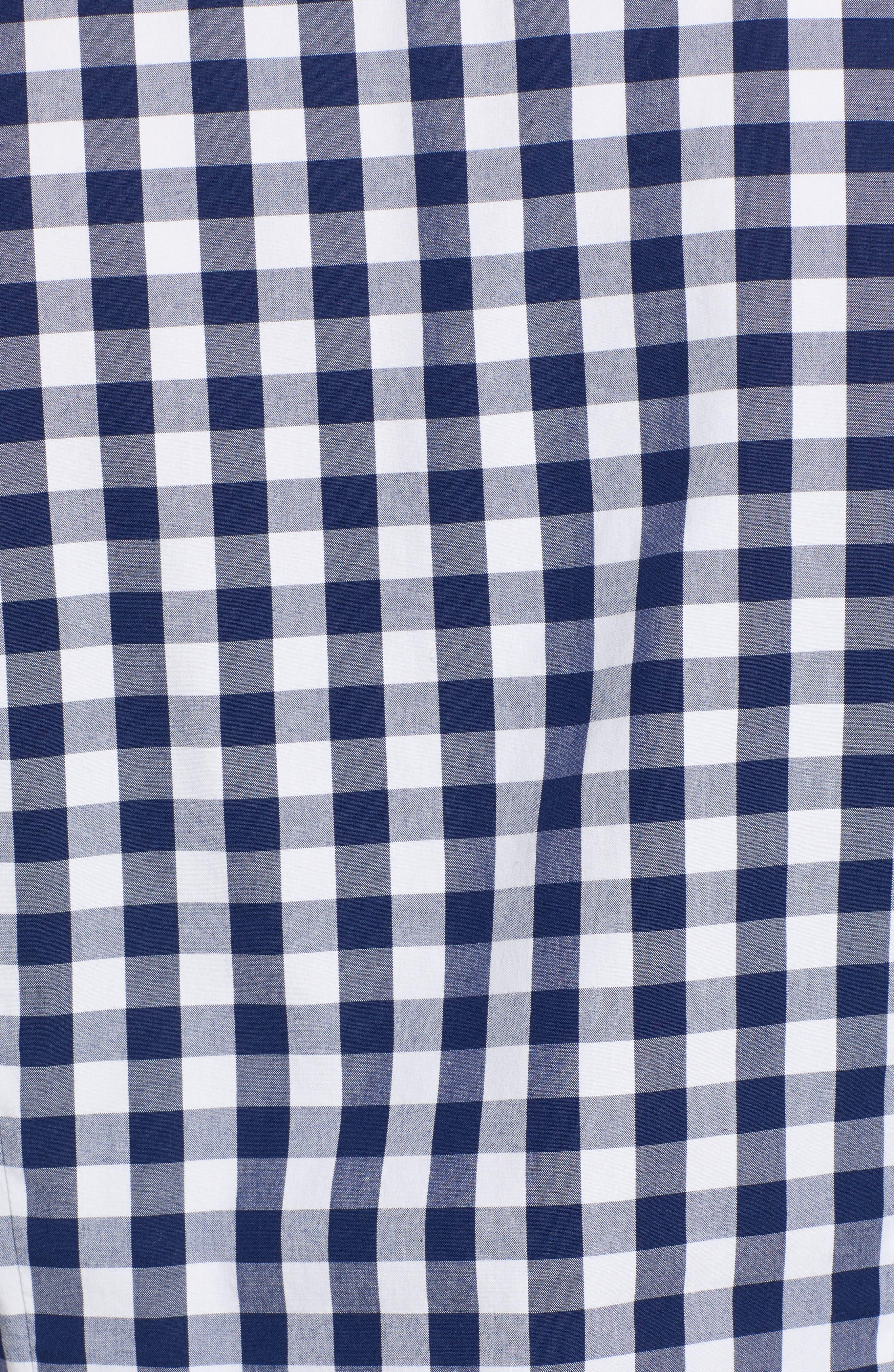 Mini Gingham Classic Button Down Shirt,                             Alternate thumbnail 5, color,                             476