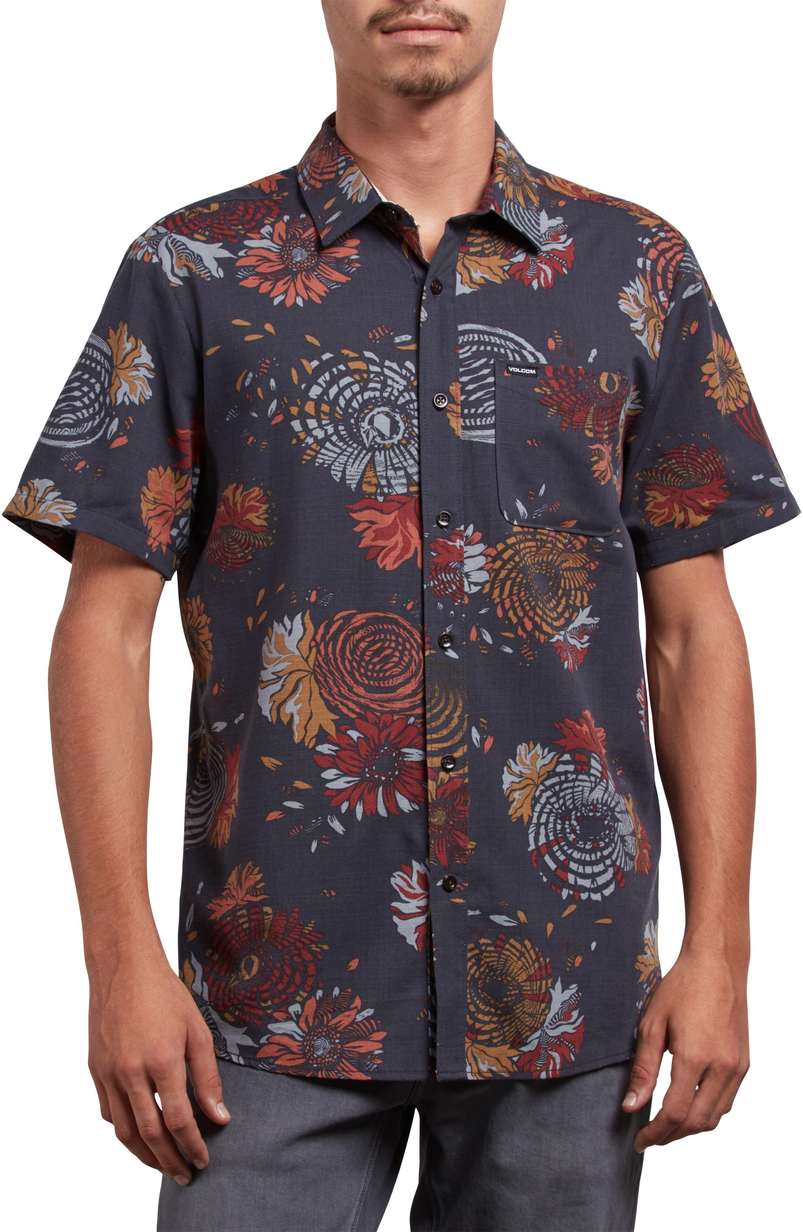 Stoney Delusion Short Sleeve Woven Shirt,                         Main,                         color, 402