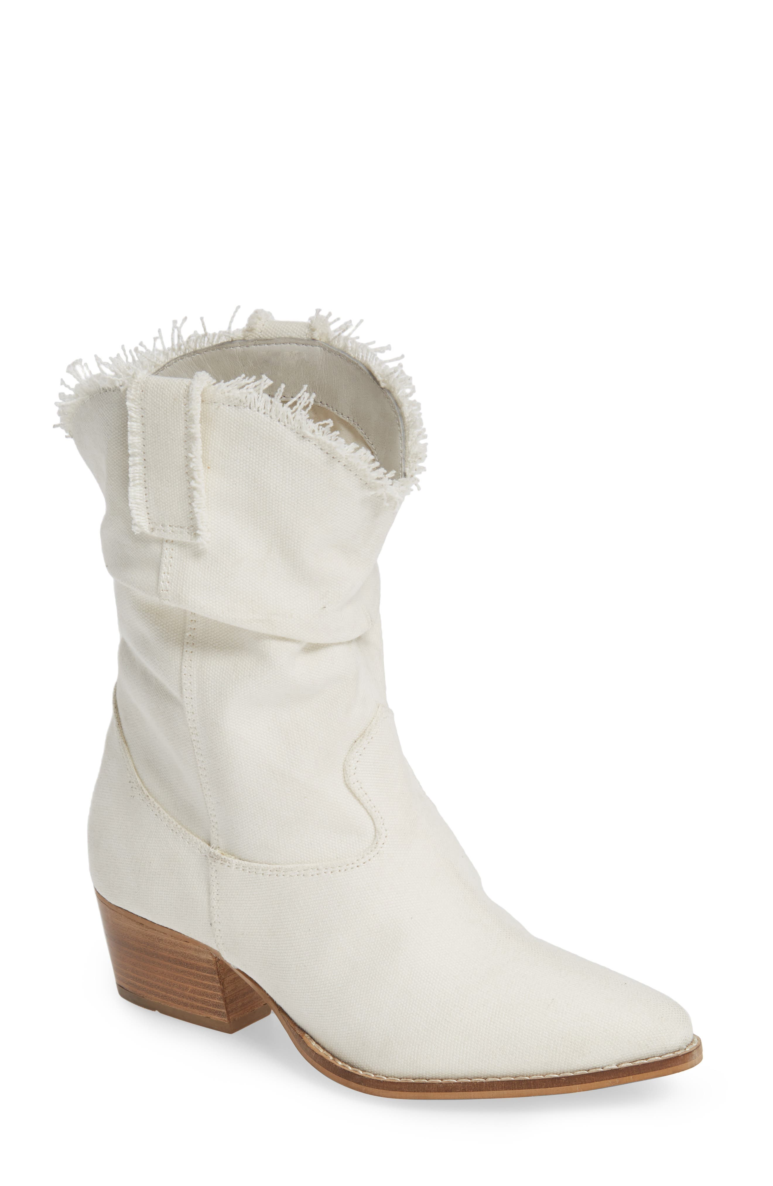Charles By Charles David Zulu Western Boot- Ivory
