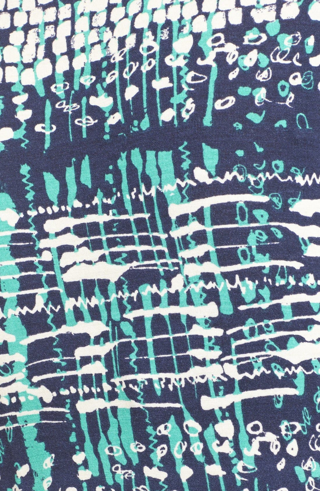 Tie Front Maternity Dress,                             Alternate thumbnail 4, color,                             NAVY ATLANTIS