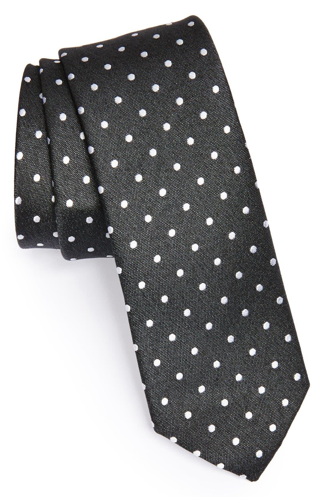 Woven Silk Tie,                             Main thumbnail 1, color,                             001