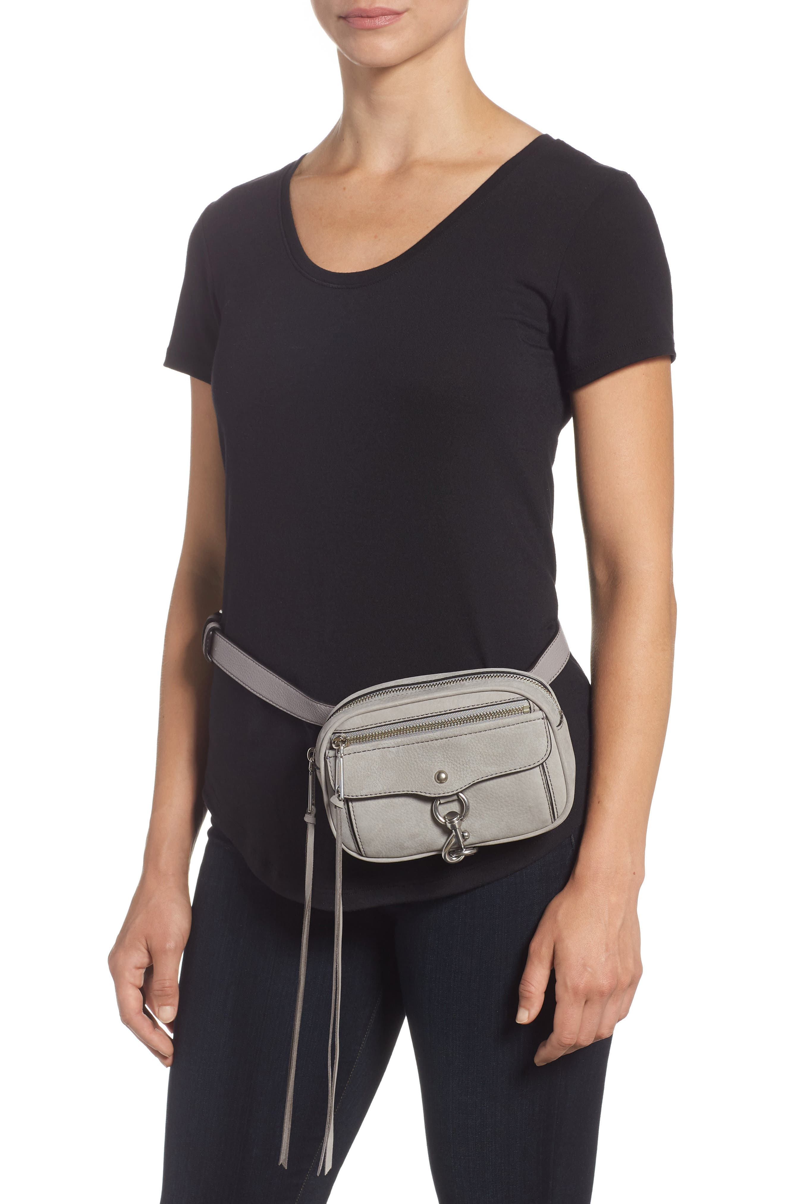 Blythe Leather Belt Bag,                             Alternate thumbnail 2, color,                             GREY
