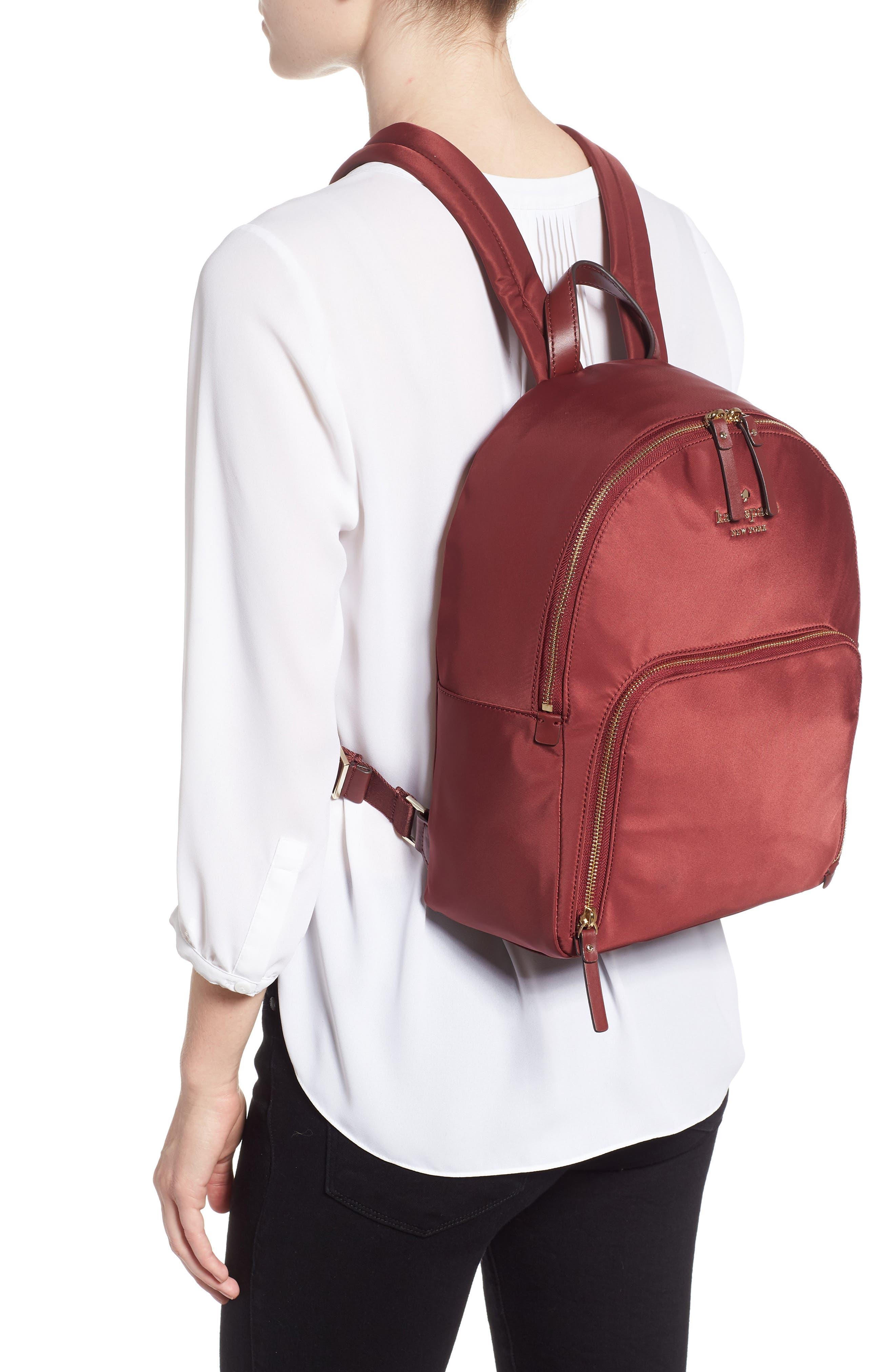 watson lane - hartley nylon backpack,                             Alternate thumbnail 2, color,                             DARK CURRANT