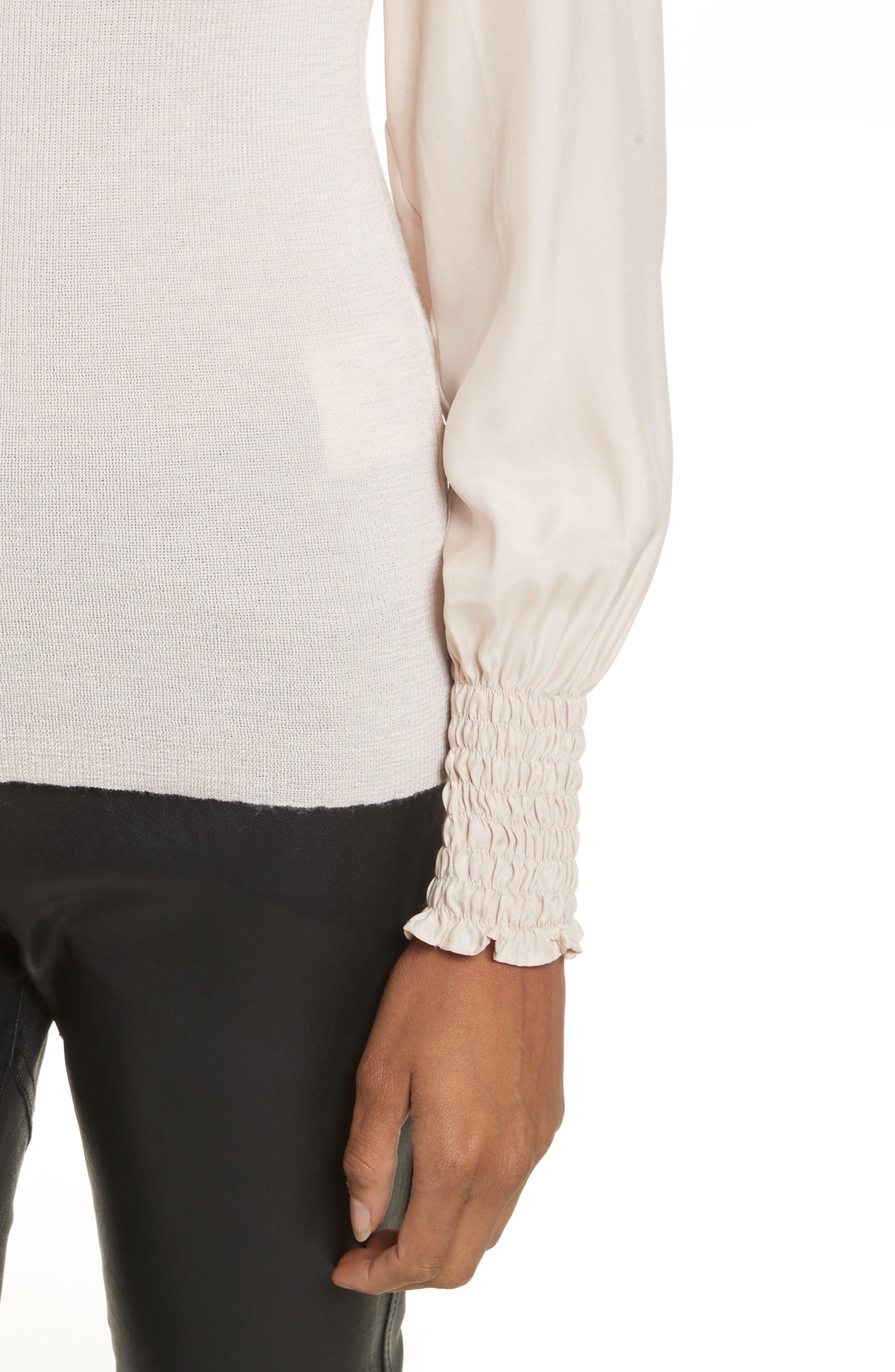 Merino Wool Mock Neck Pullover,                             Alternate thumbnail 4, color,