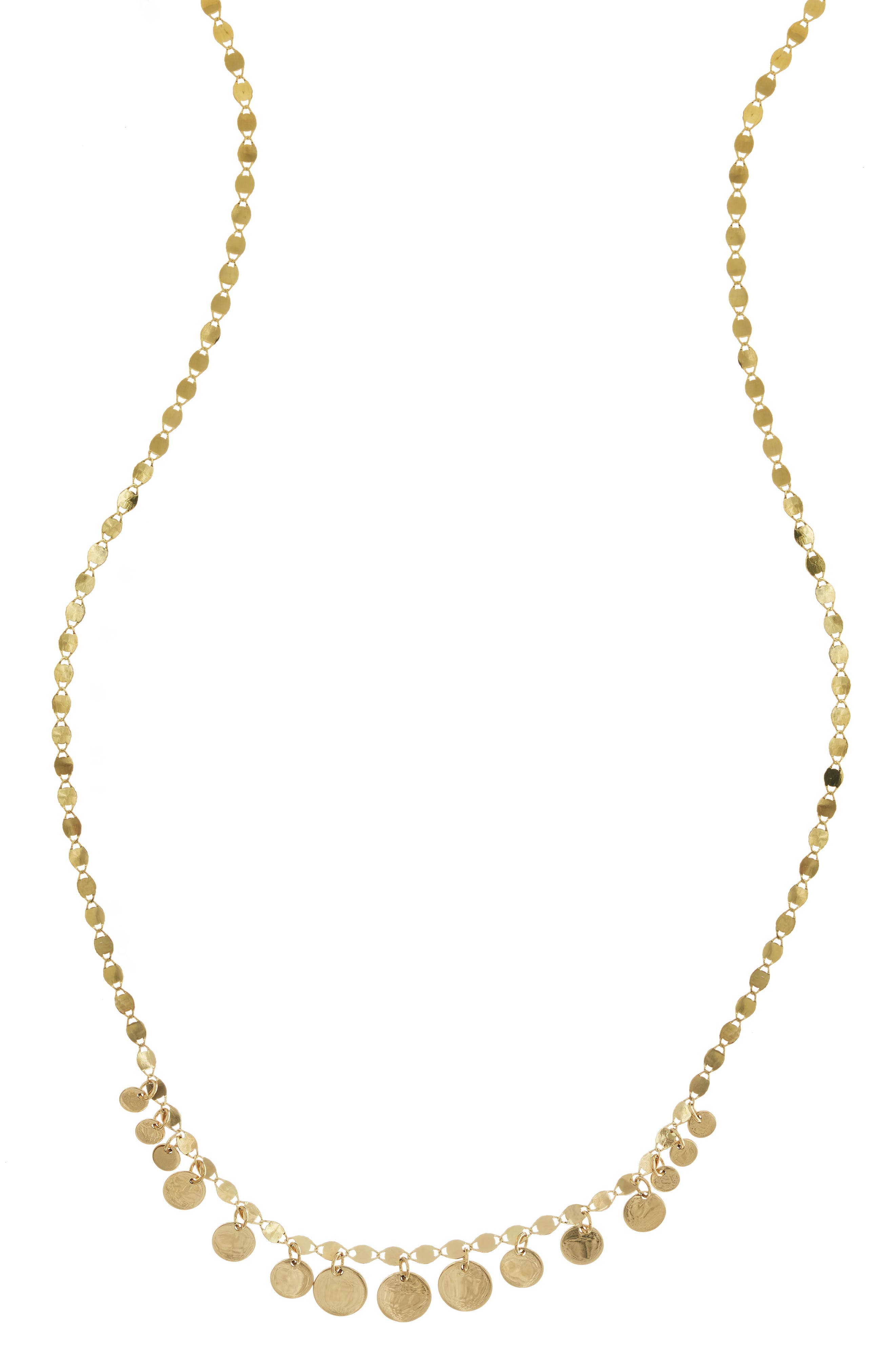 Lane Jewelry Frontal Necklace,                             Main thumbnail 1, color,                             YELLOW GOLD