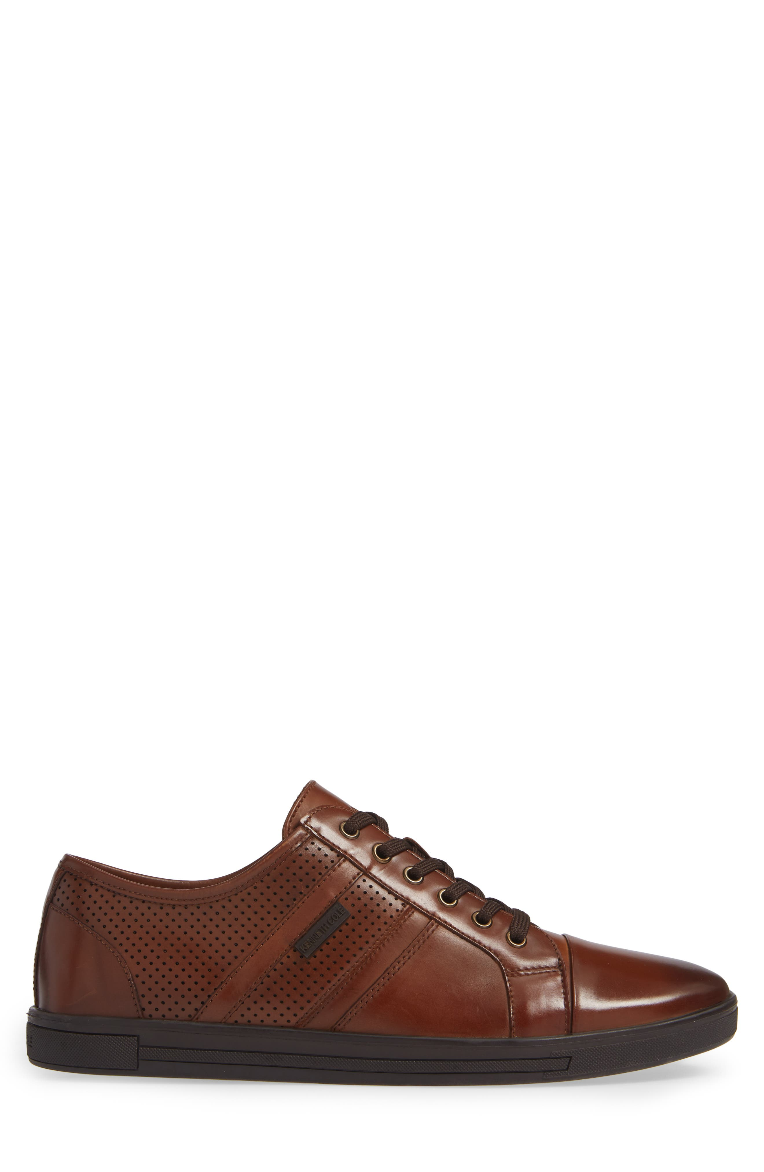 Initial Step Sneaker,                             Alternate thumbnail 3, color,                             COGNAC LEATHER