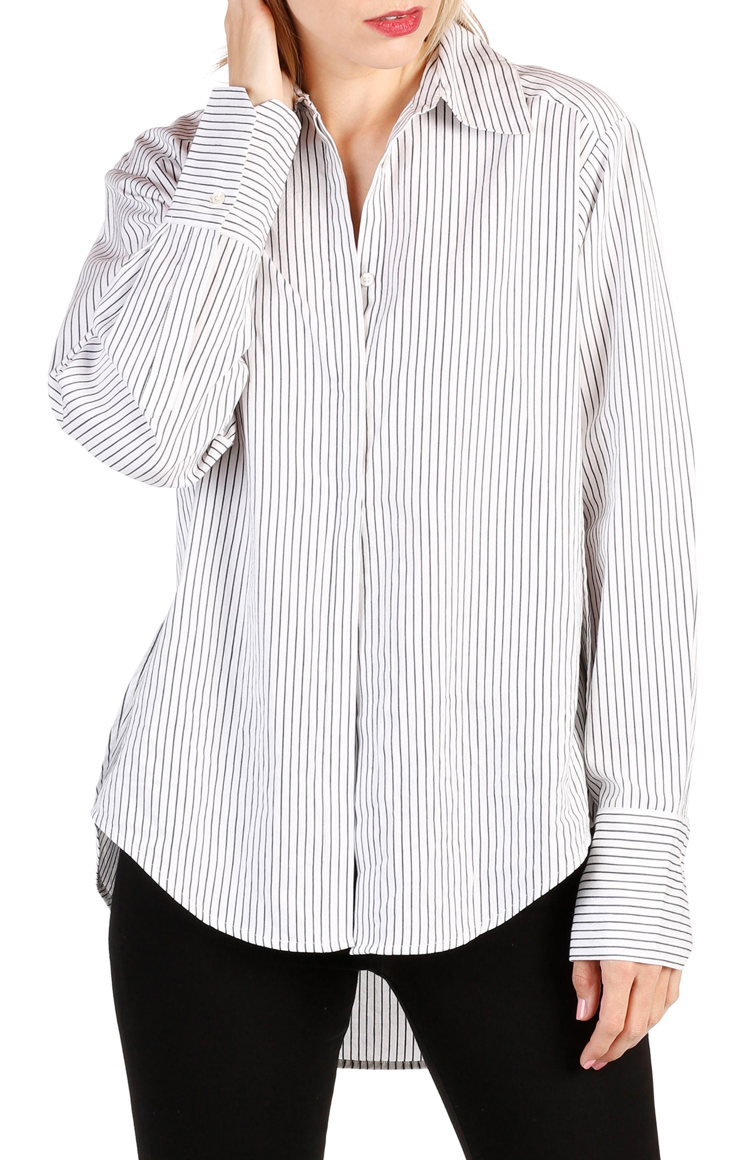 Clemence Stripe Shirt,                             Main thumbnail 1, color,                             006