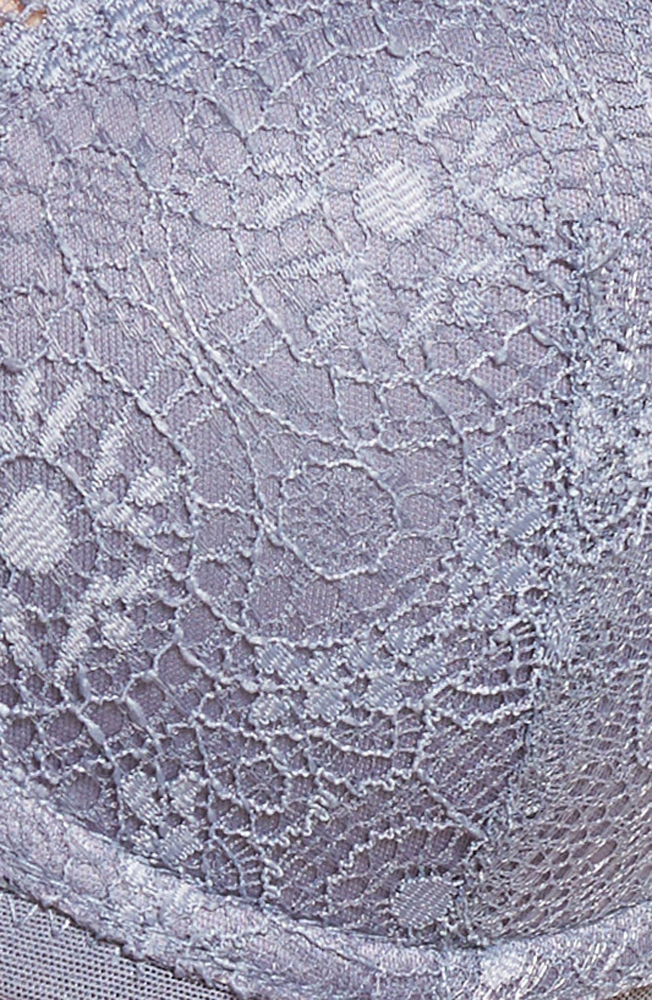 Flutter Lace T-Shirt Bra,                             Alternate thumbnail 7, color,                             400