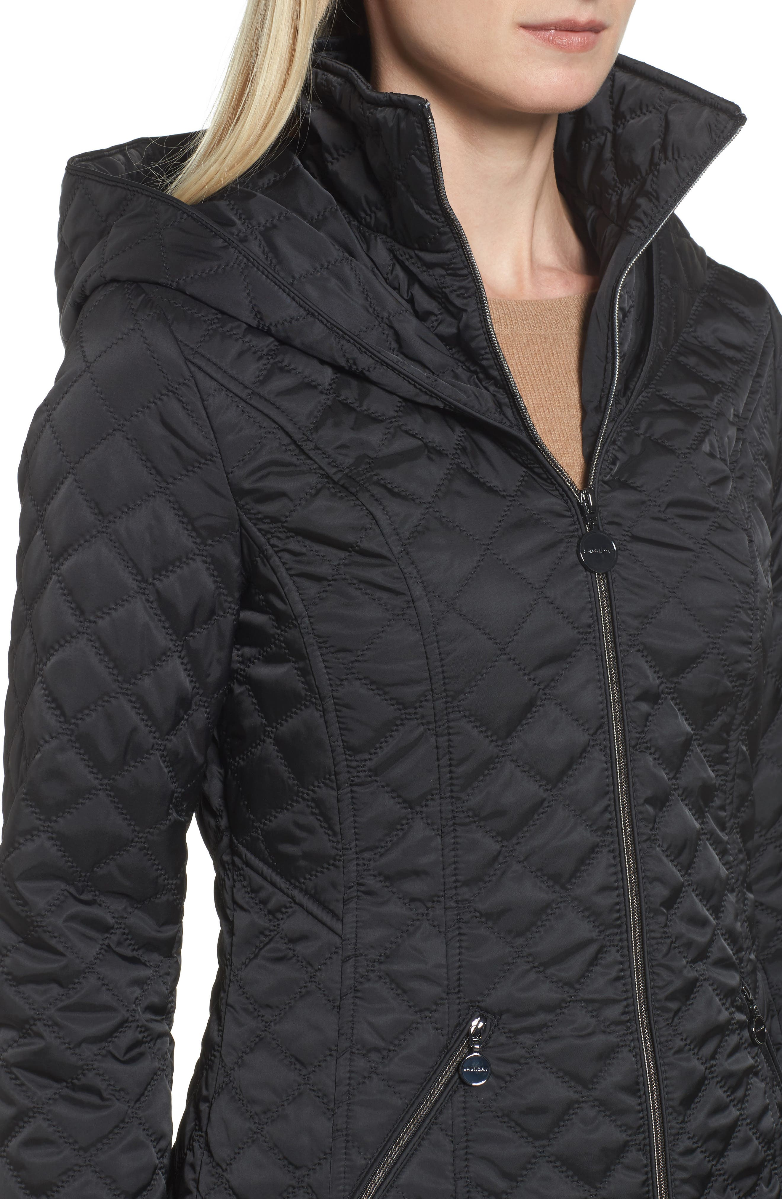 Hooded Quilted Jacket,                             Alternate thumbnail 10, color,