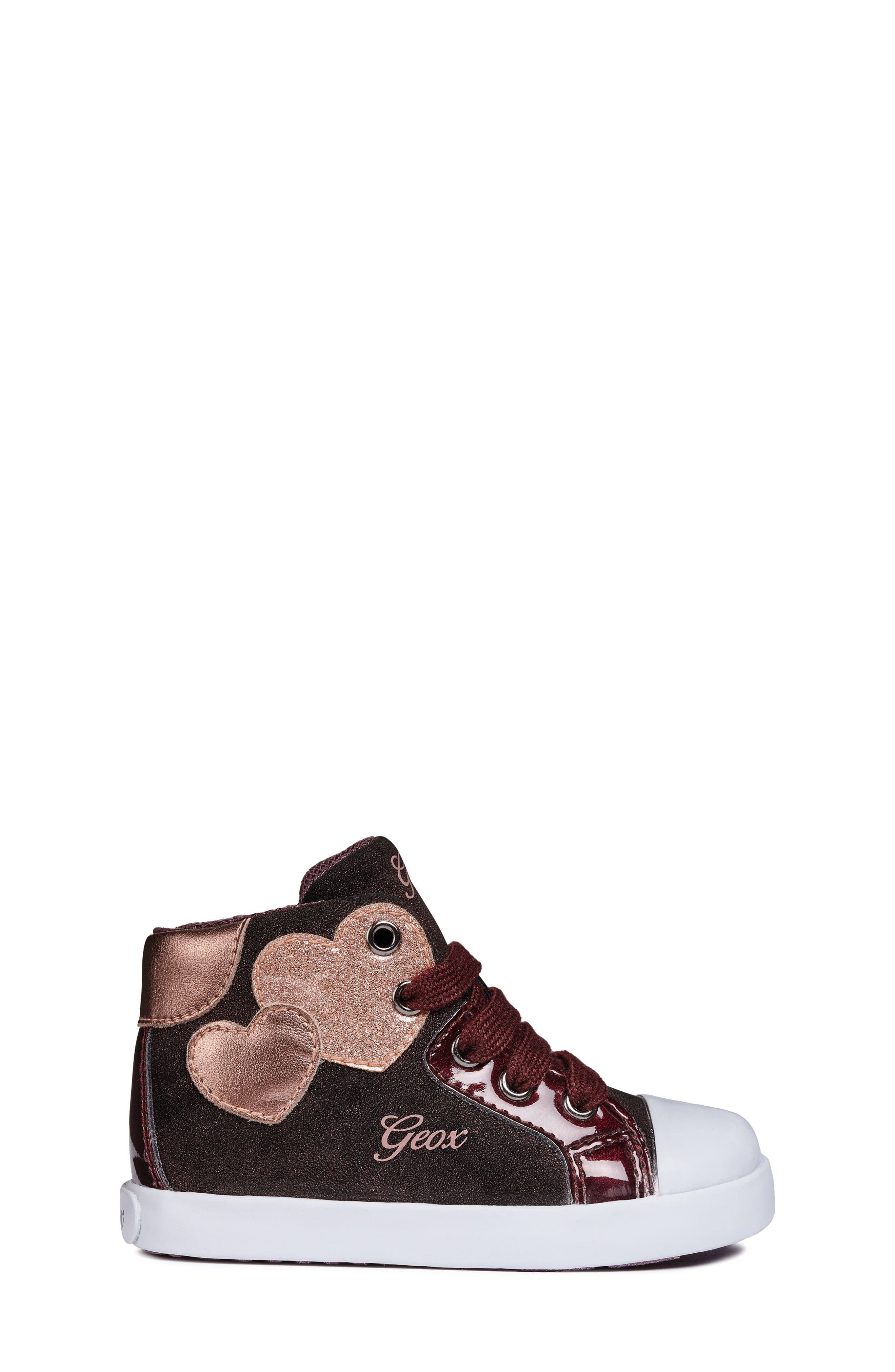 Kilwi Sparkle High Top Sneaker,                             Alternate thumbnail 3, color,                             DARK BURGUNDY