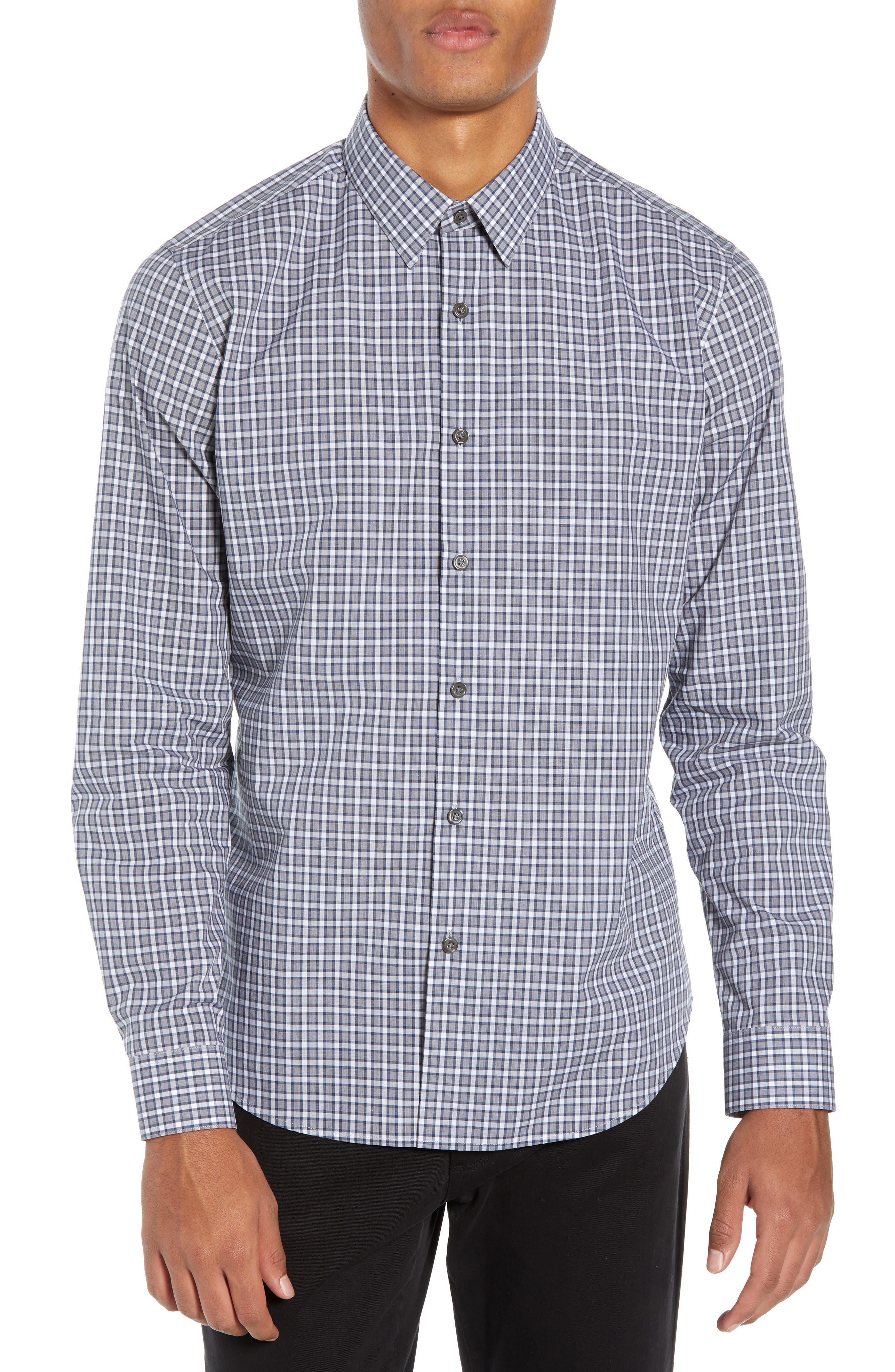 Sylvain Regular Fit Check Sport Shirt,                         Main,                         color, NAVY MULTI