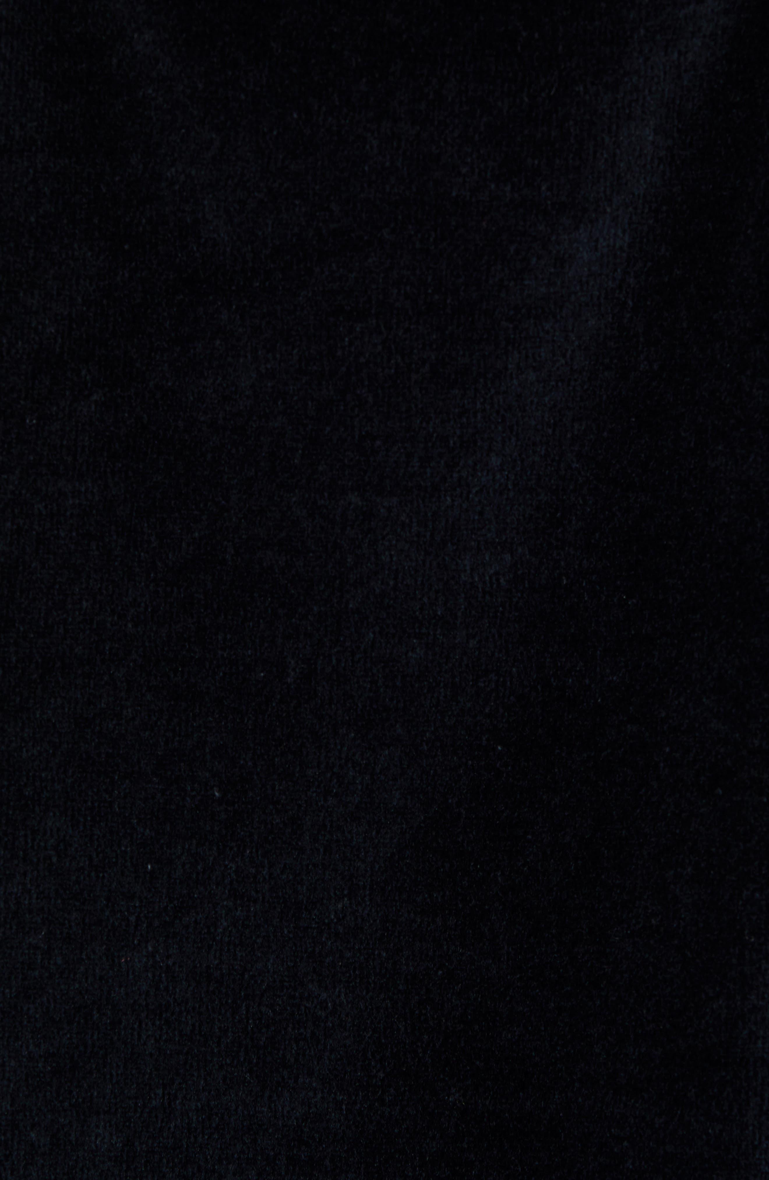 KAPPA,                             Authentic Aynset Velour Crewneck Sweatshirt,                             Alternate thumbnail 5, color,                             001