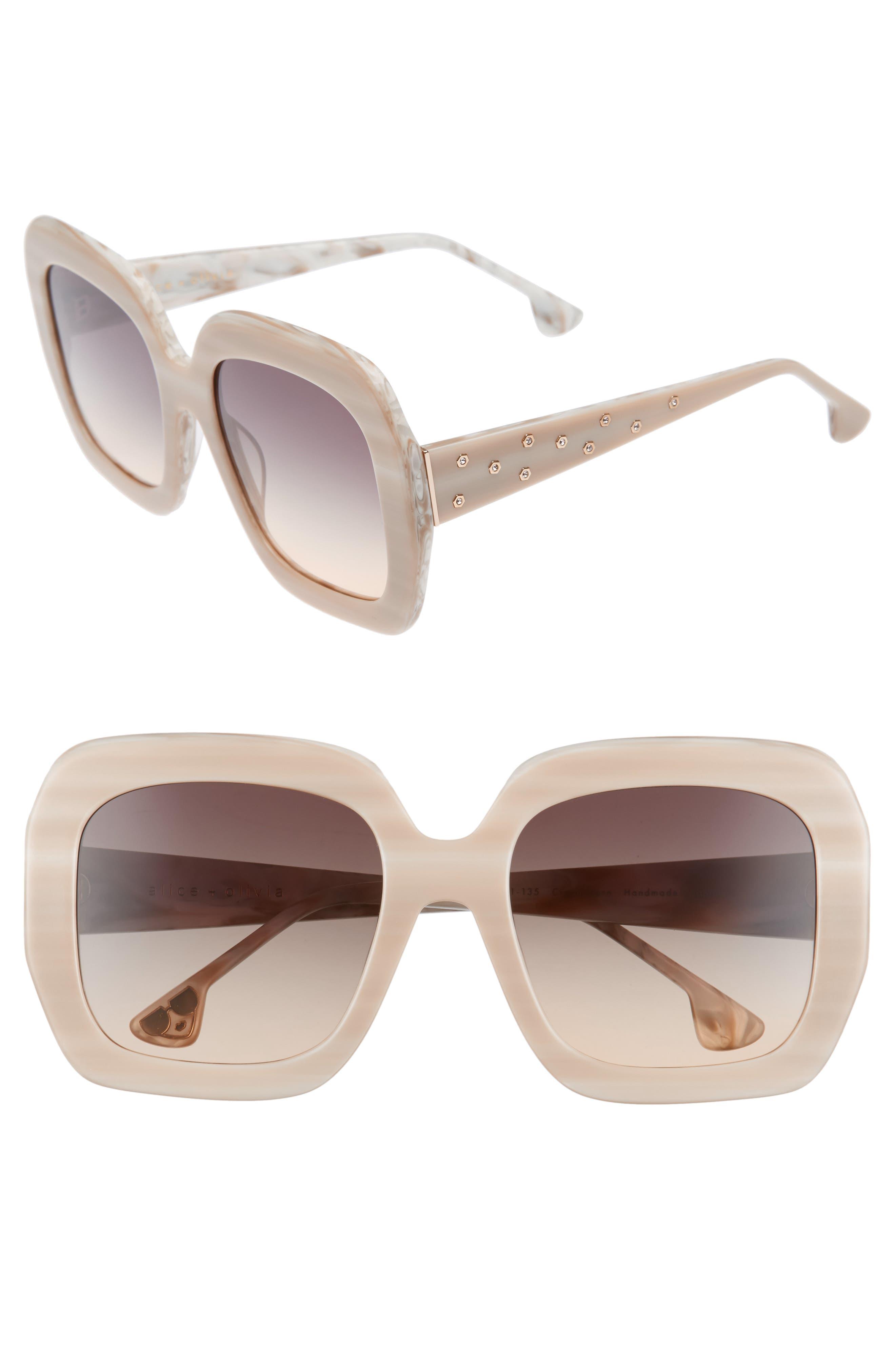 Lexington 55mm Square Sunglasses,                             Main thumbnail 3, color,