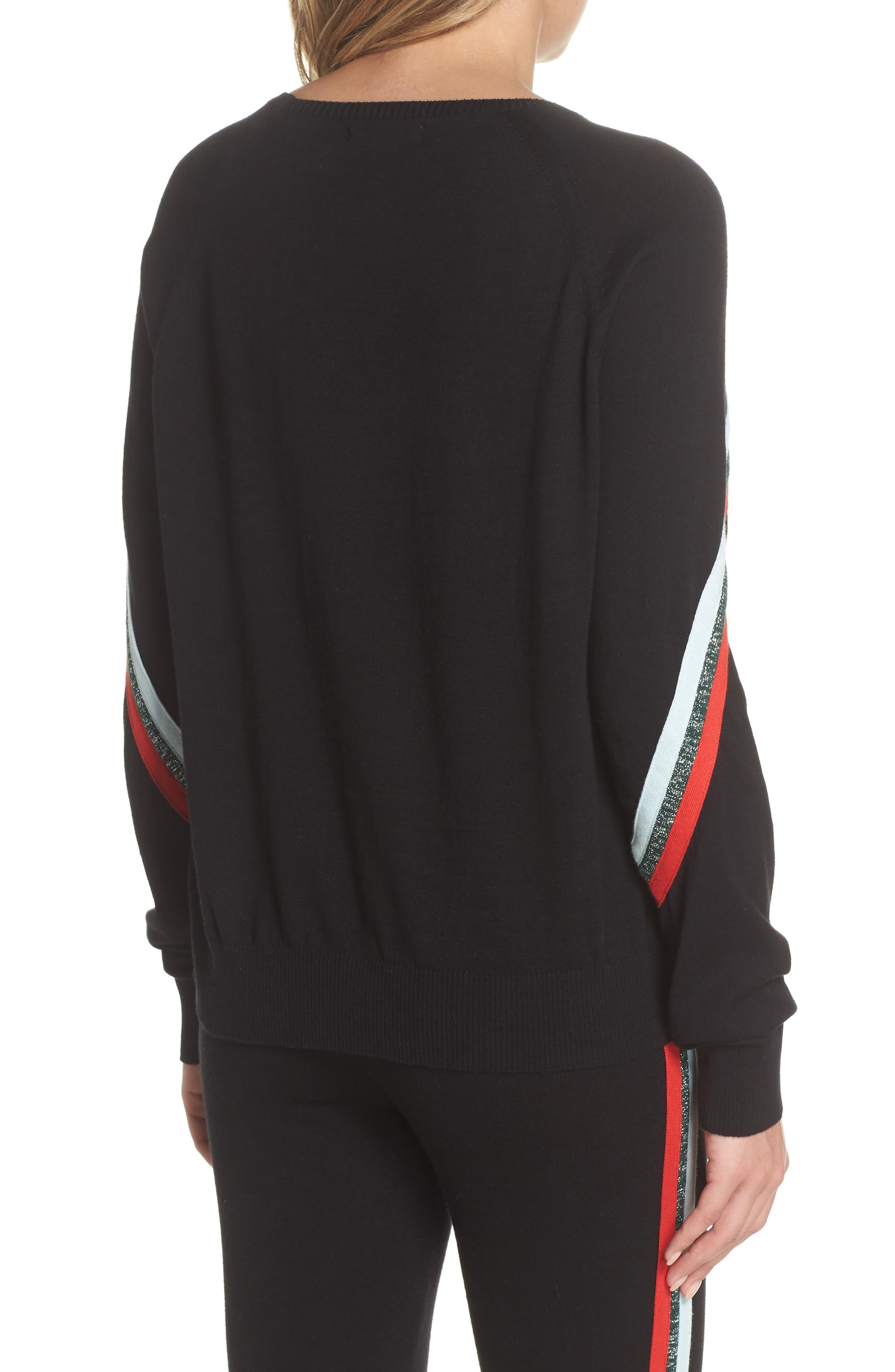 Rainbow Stripe Sweater,                             Alternate thumbnail 2, color,                             001