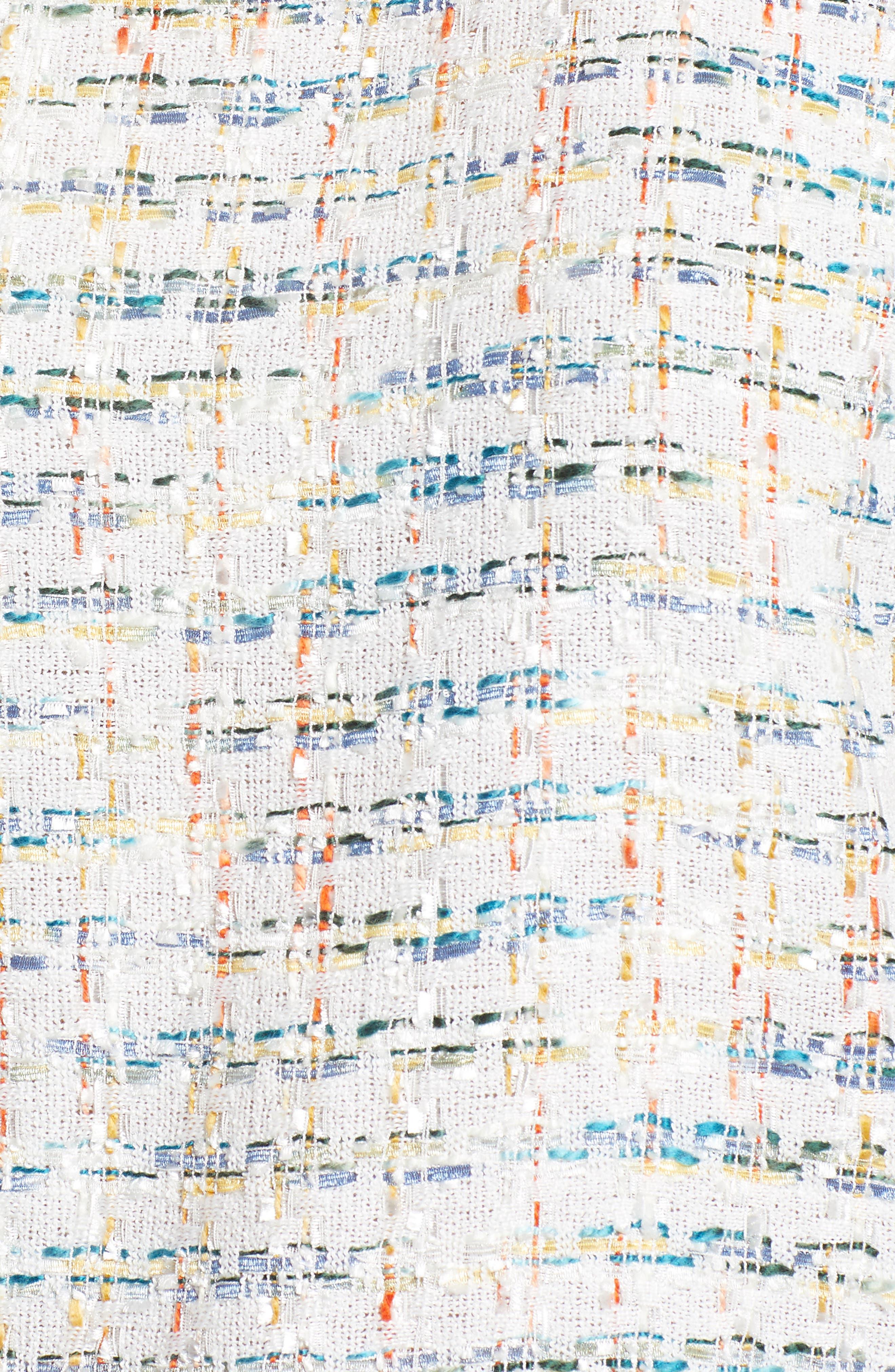 Poplin Ruffle Tweed Top,                             Alternate thumbnail 11, color,