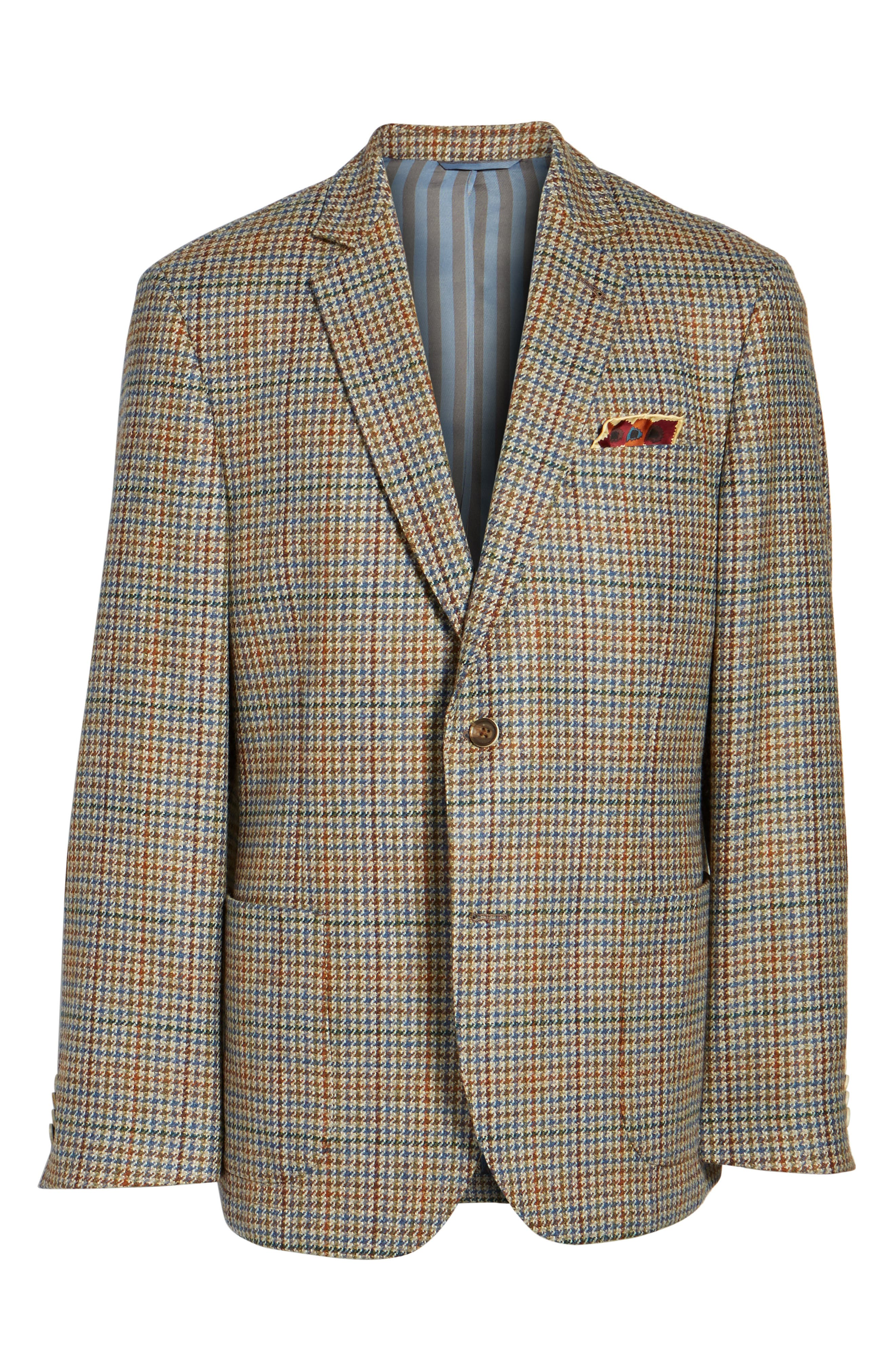 Houndstooth Wool Blend Sport Coat,                             Alternate thumbnail 5, color,                             250