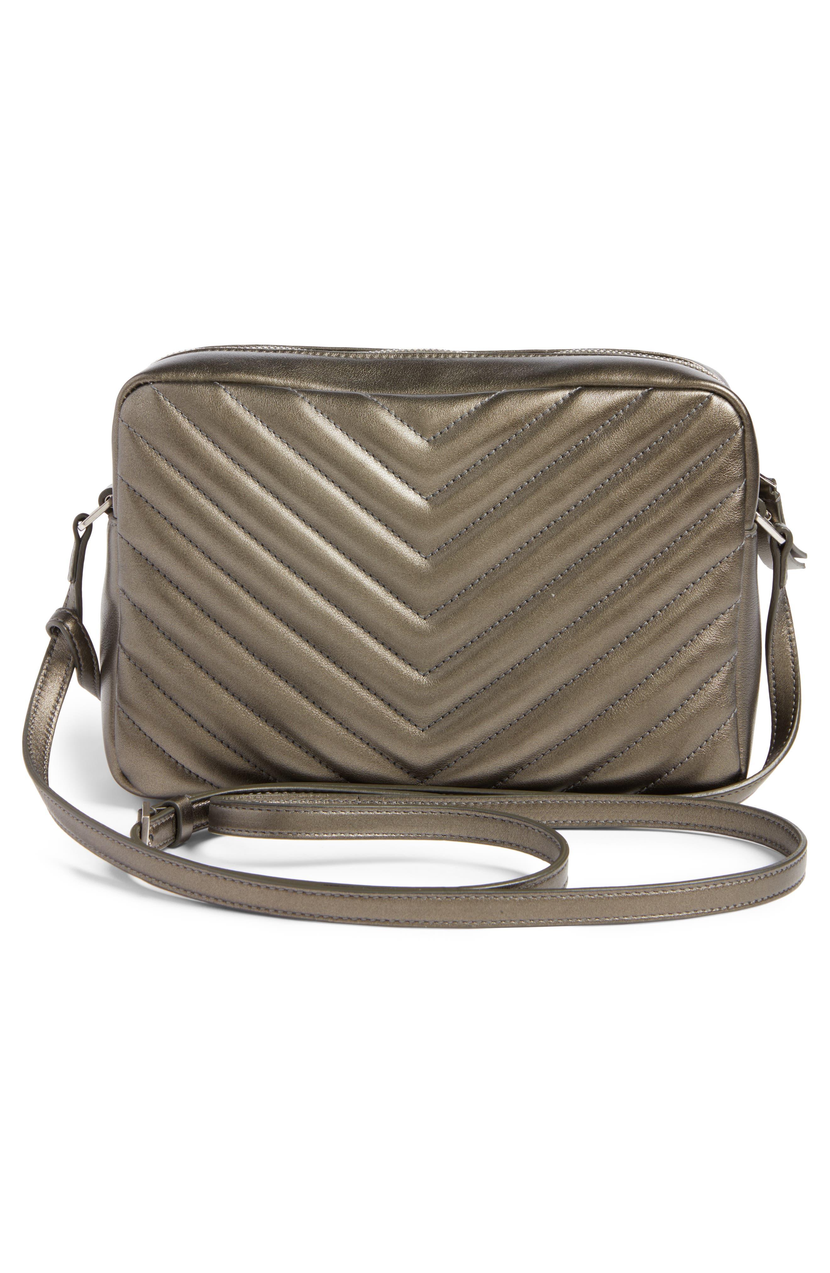 Medium Lou Calfskin Leather Camera Bag,                             Alternate thumbnail 3, color,                             020