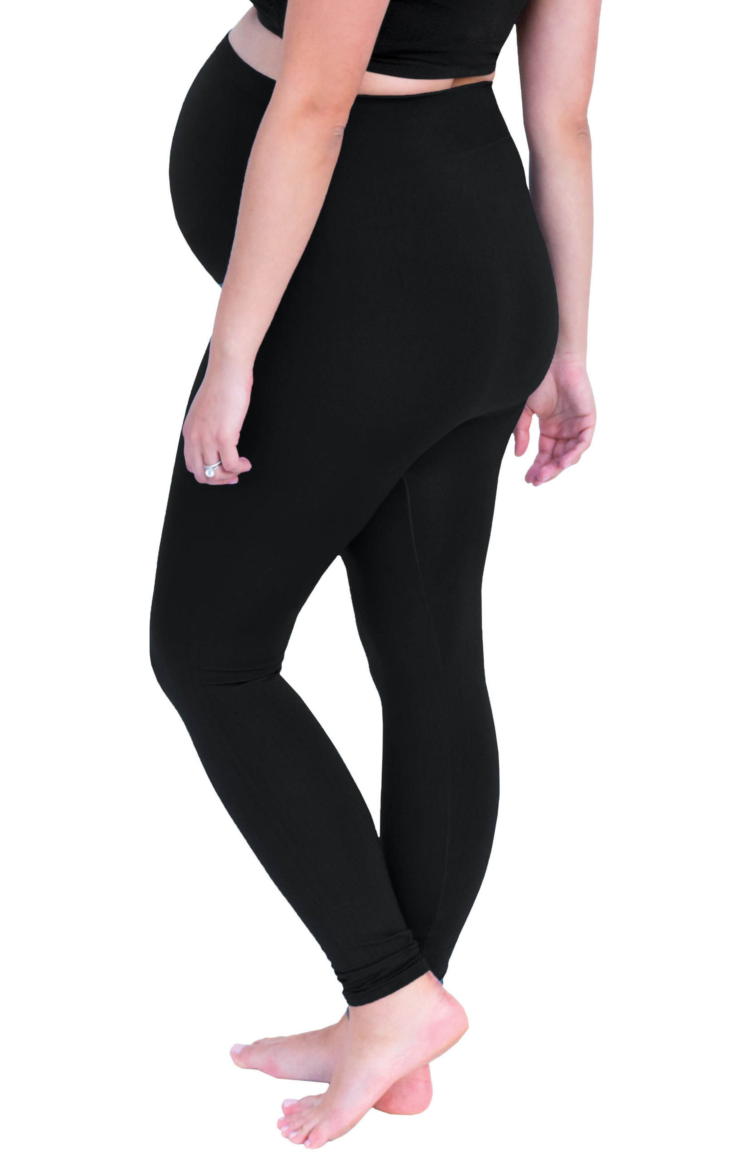Belly Bandit Bump Support<sup>™</sup> Leggings,                             Alternate thumbnail 2, color,                             001