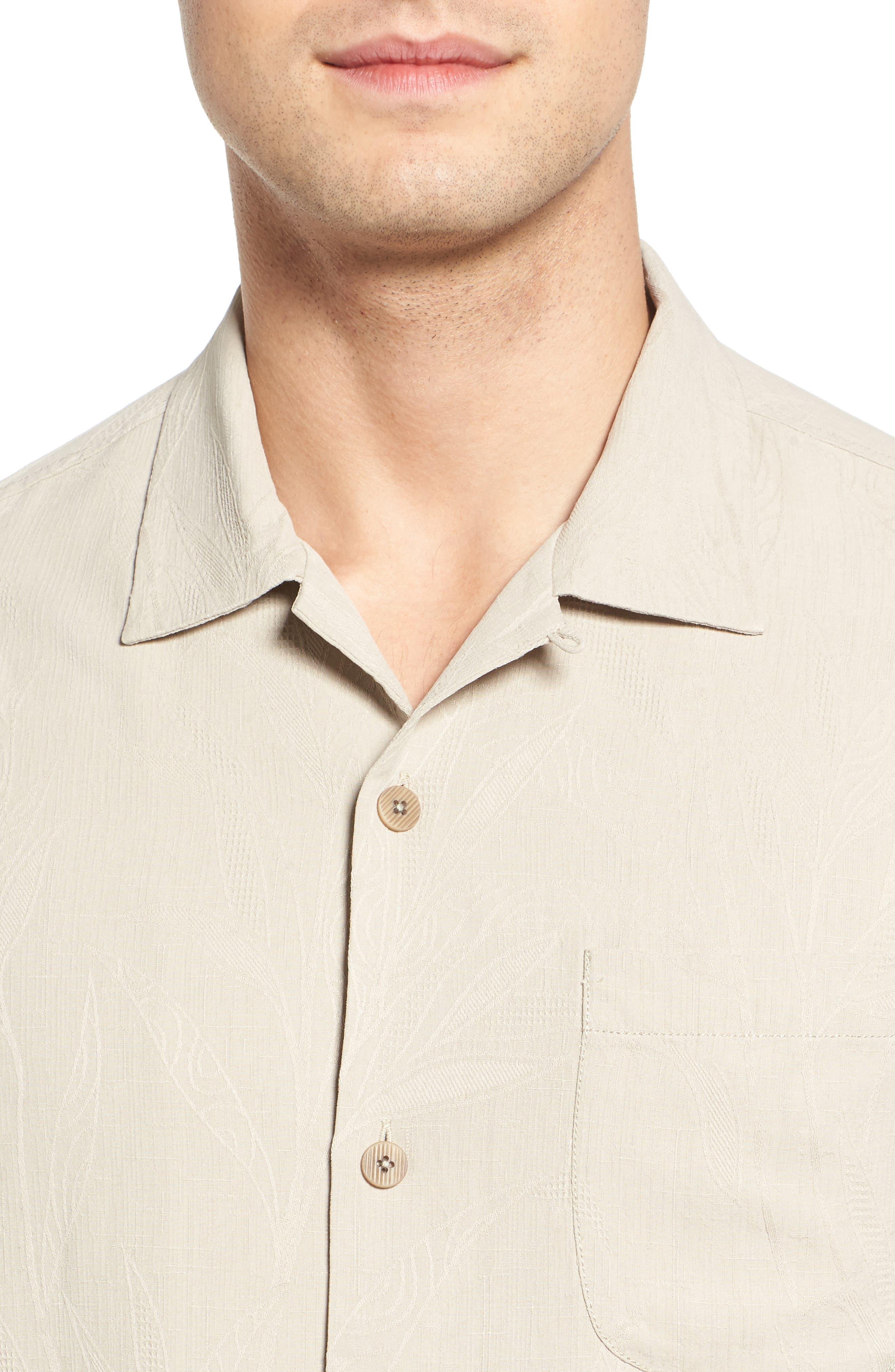 Islander Fronds Silk Camp Shirt,                             Alternate thumbnail 31, color,