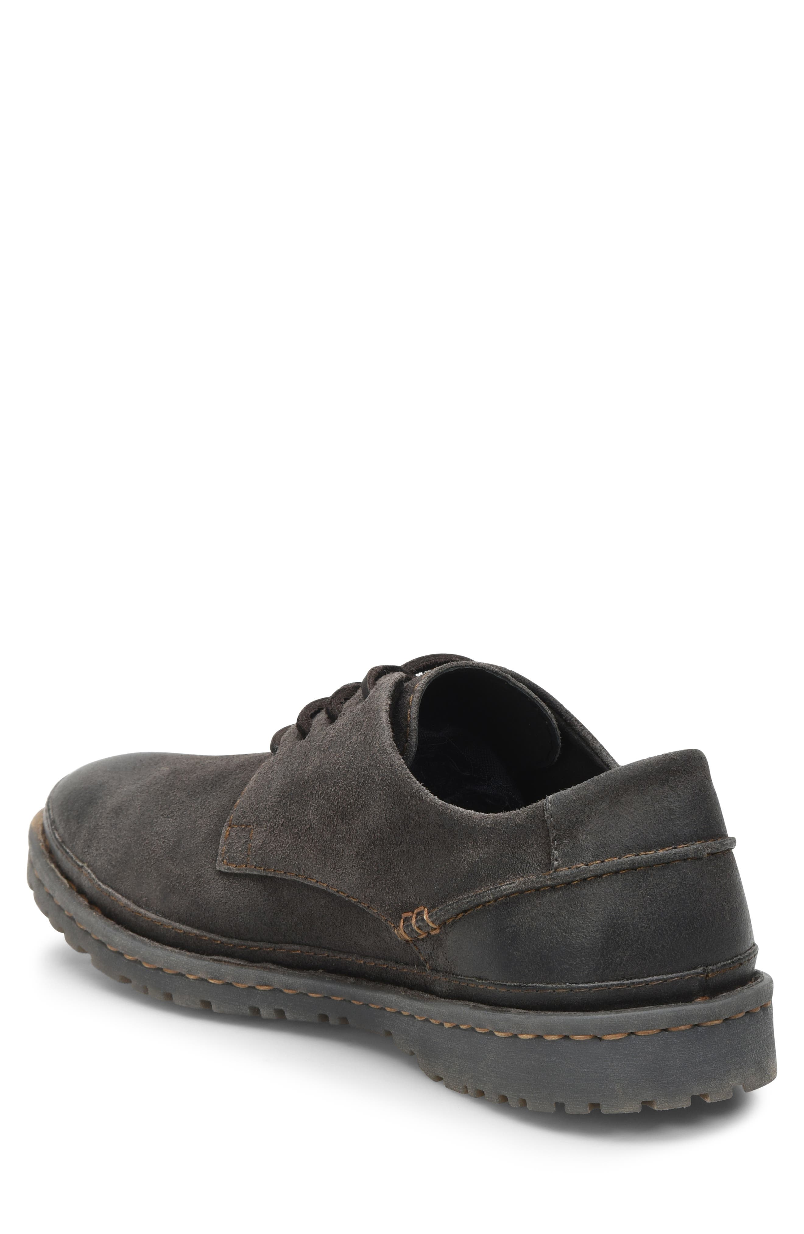 Gilles Plain Toe Derby,                             Alternate thumbnail 2, color,                             DARK GREY LEATHER