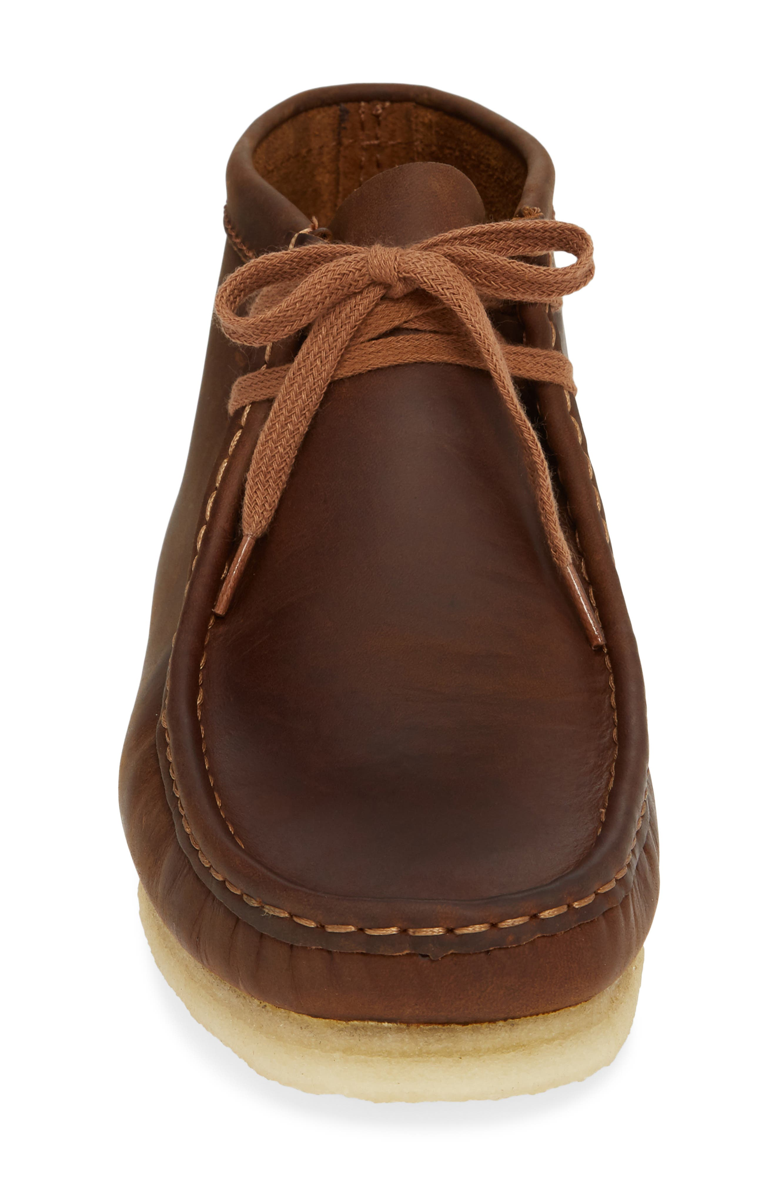 Wallabee Boot,                             Alternate thumbnail 4, color,                             BROWN LEATHER