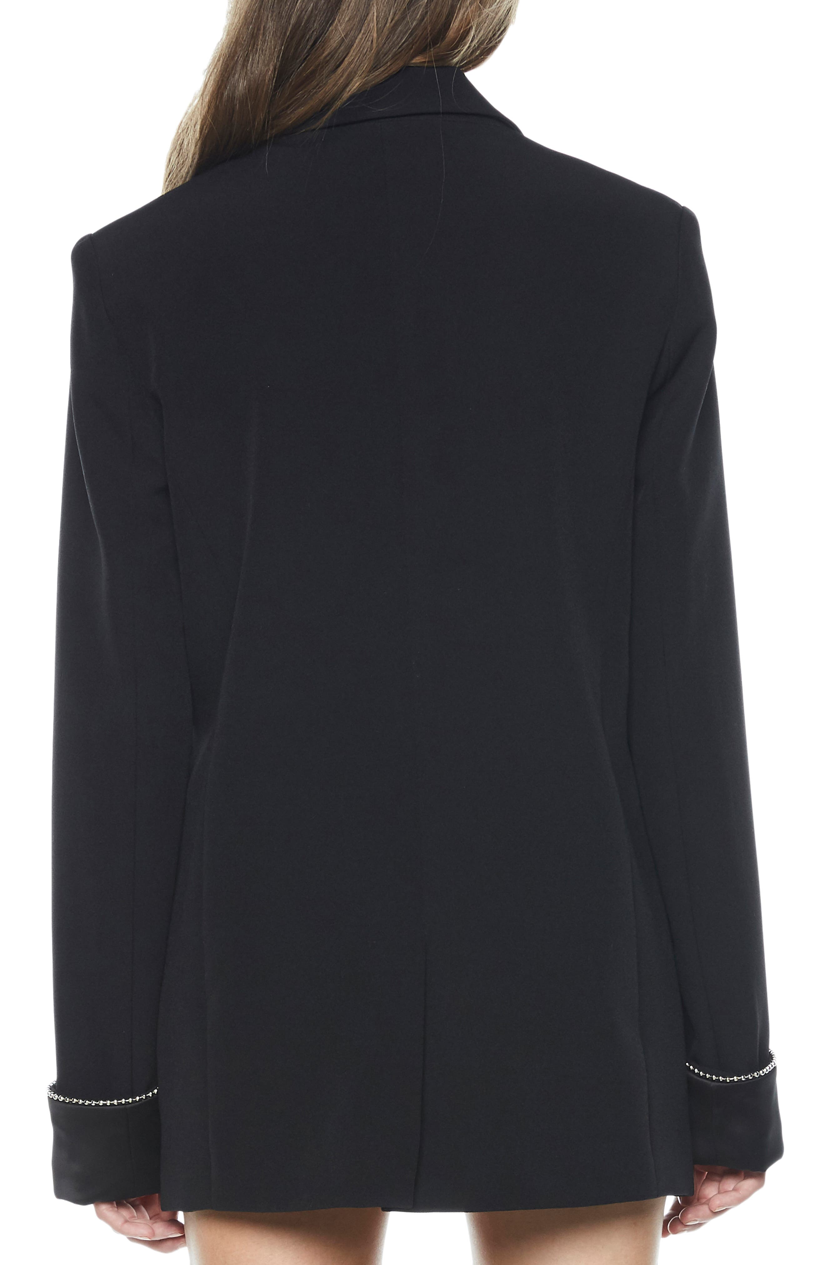 Sienna Double Breasted Jacket,                             Alternate thumbnail 2, color,                             BLACK