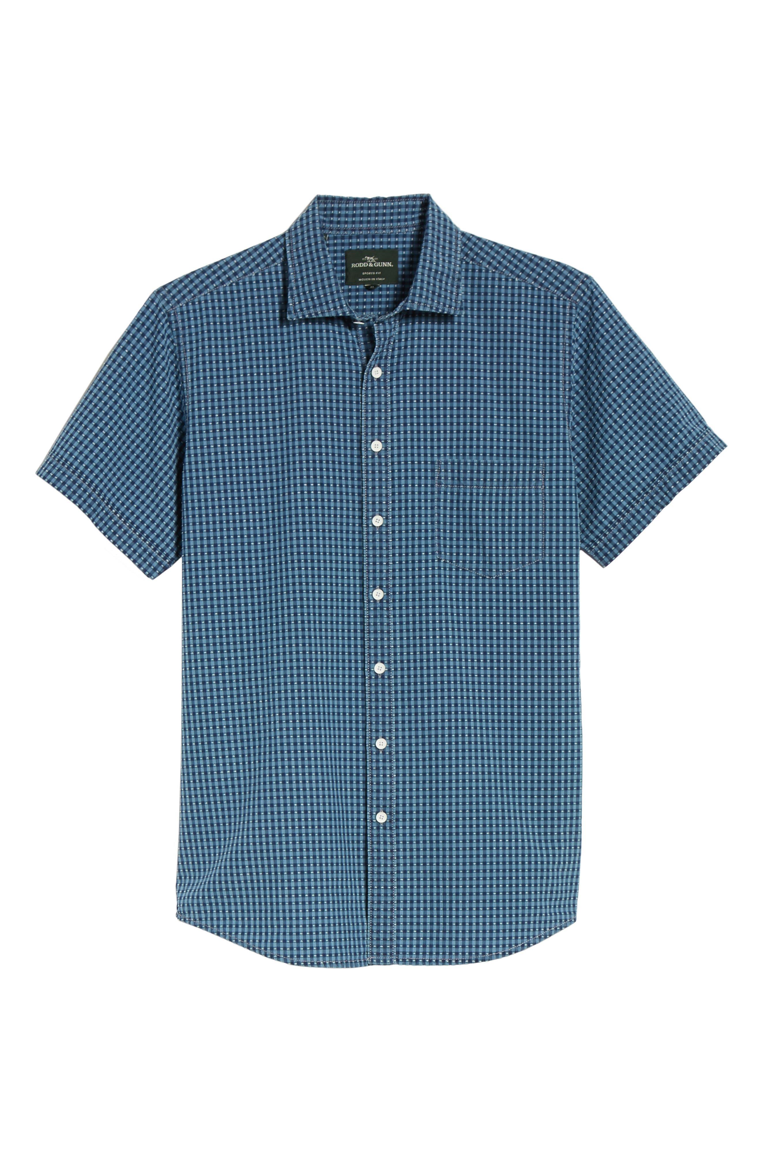 RODD & GUNN,                             Sandon Block Sport Shirt,                             Alternate thumbnail 6, color,                             420