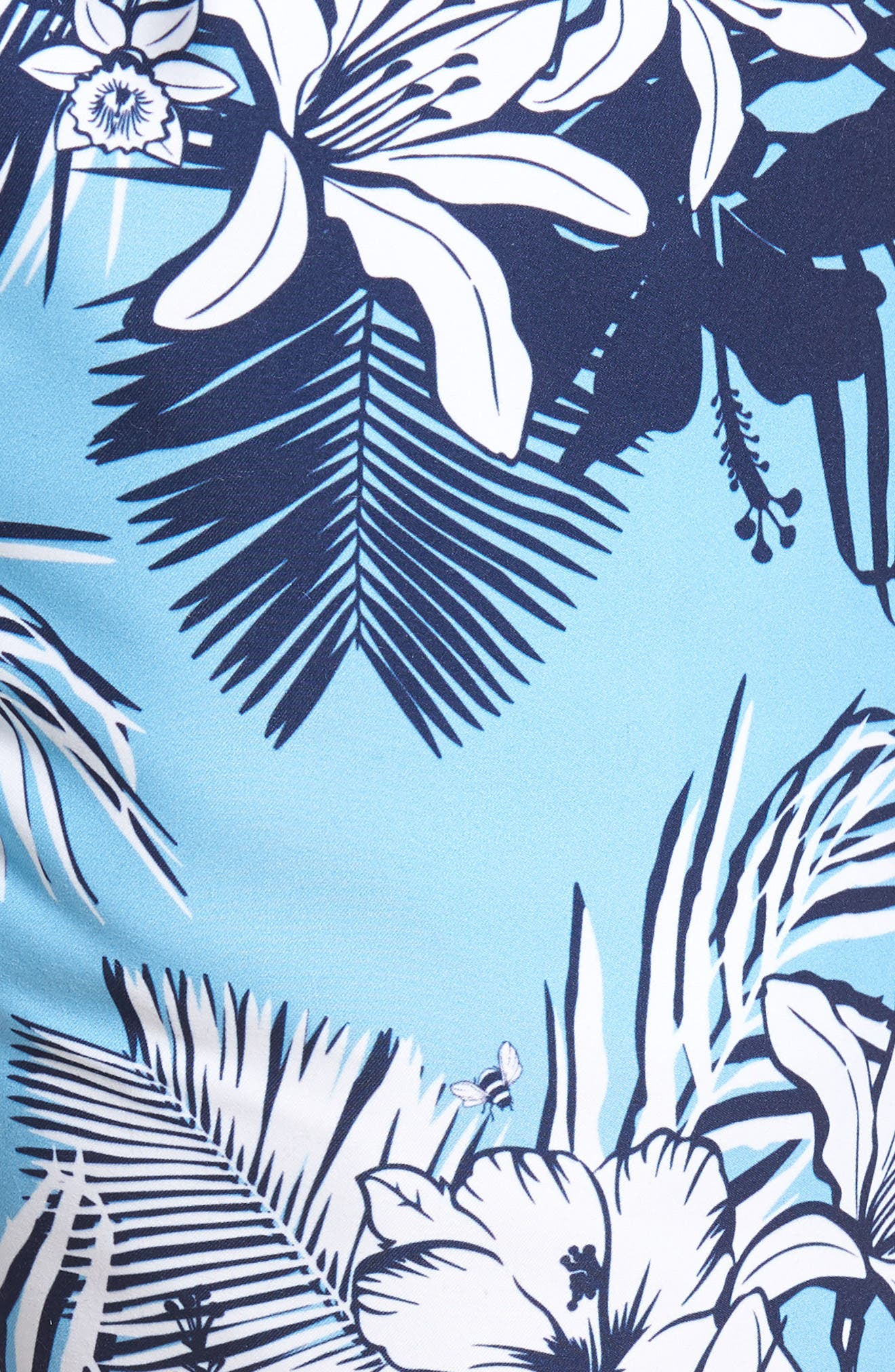 Piranha Floral Swim Trunks,                             Alternate thumbnail 5, color,