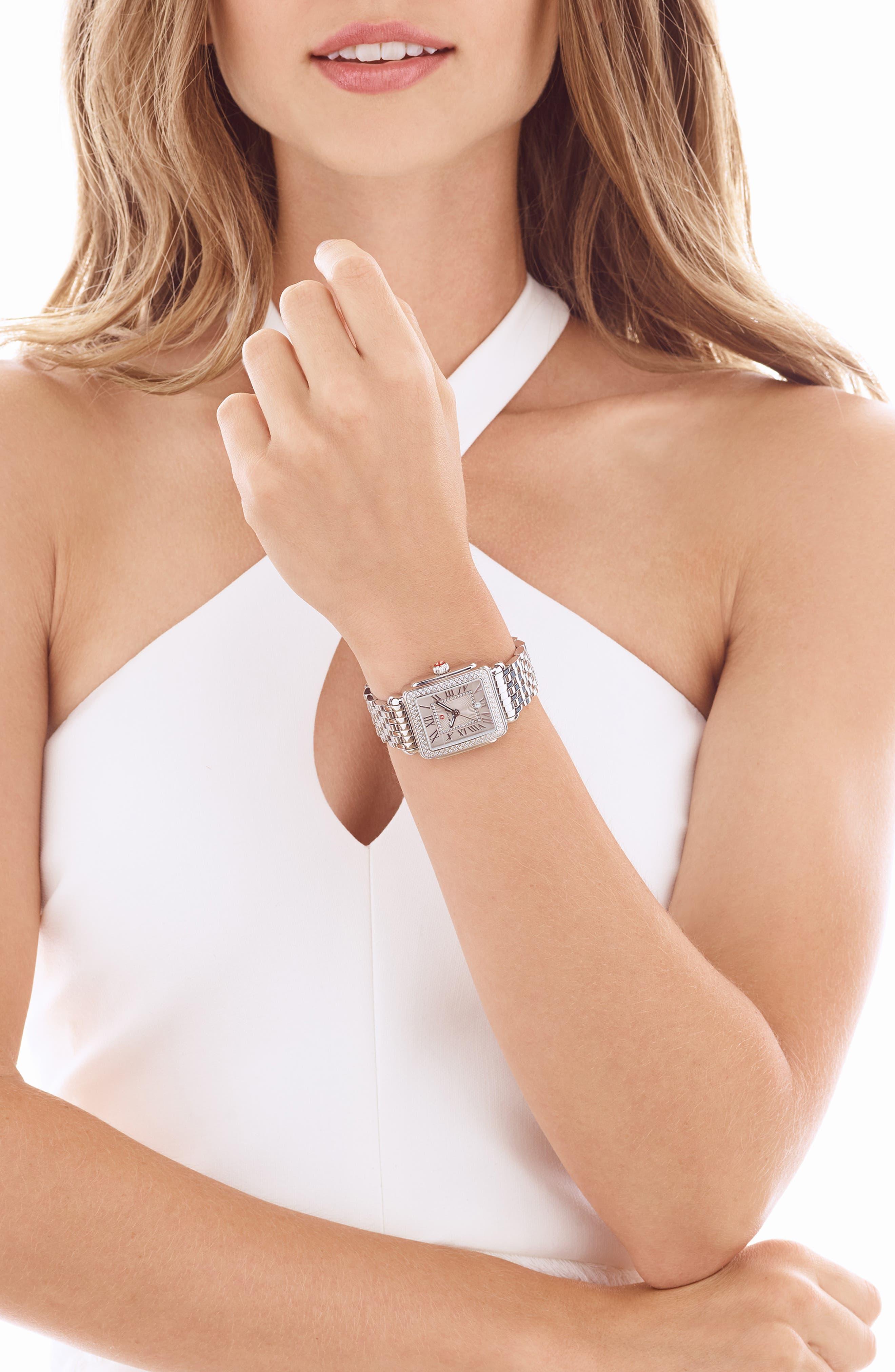 Deco 16 16mm Bracelet Watchband,                             Alternate thumbnail 10, color,                             SILVER