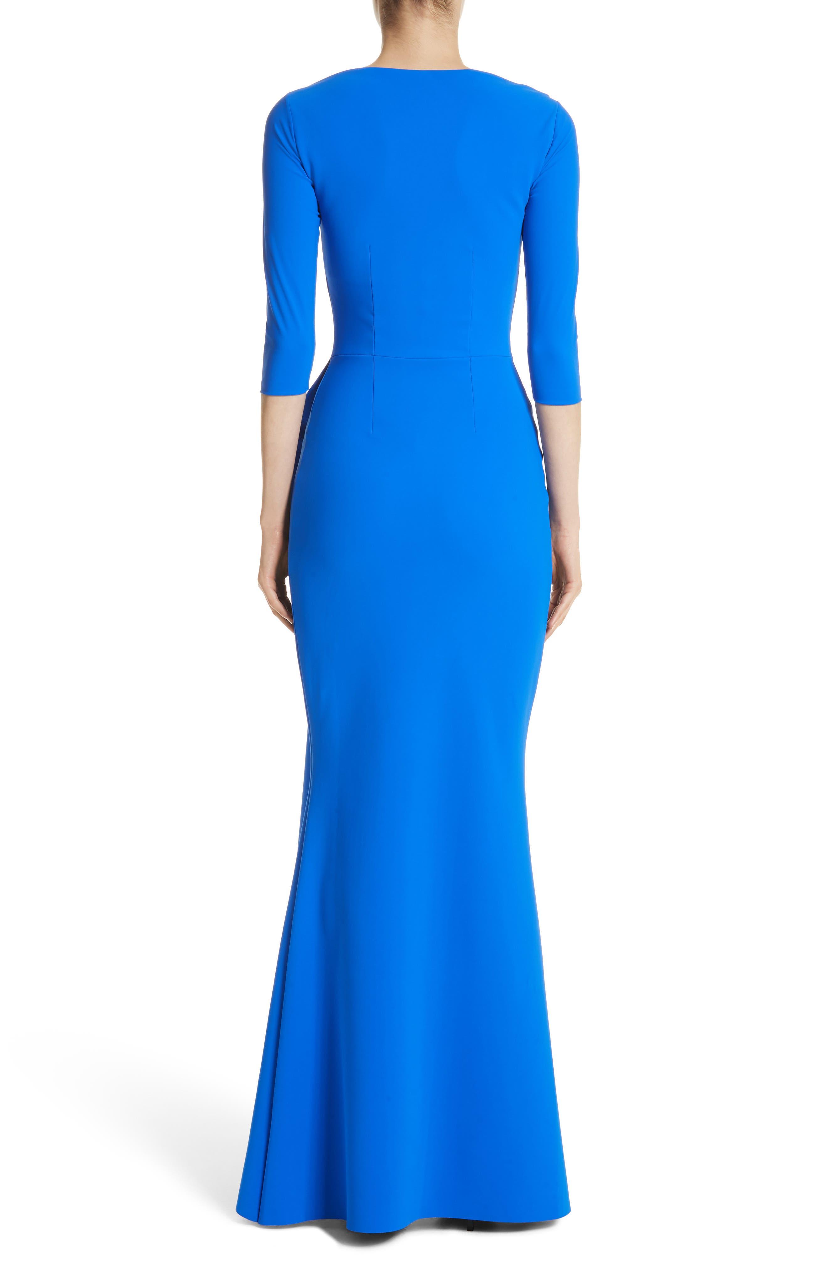 Slit Bodice Drape Front Gown,                             Alternate thumbnail 2, color,                             COLBALT