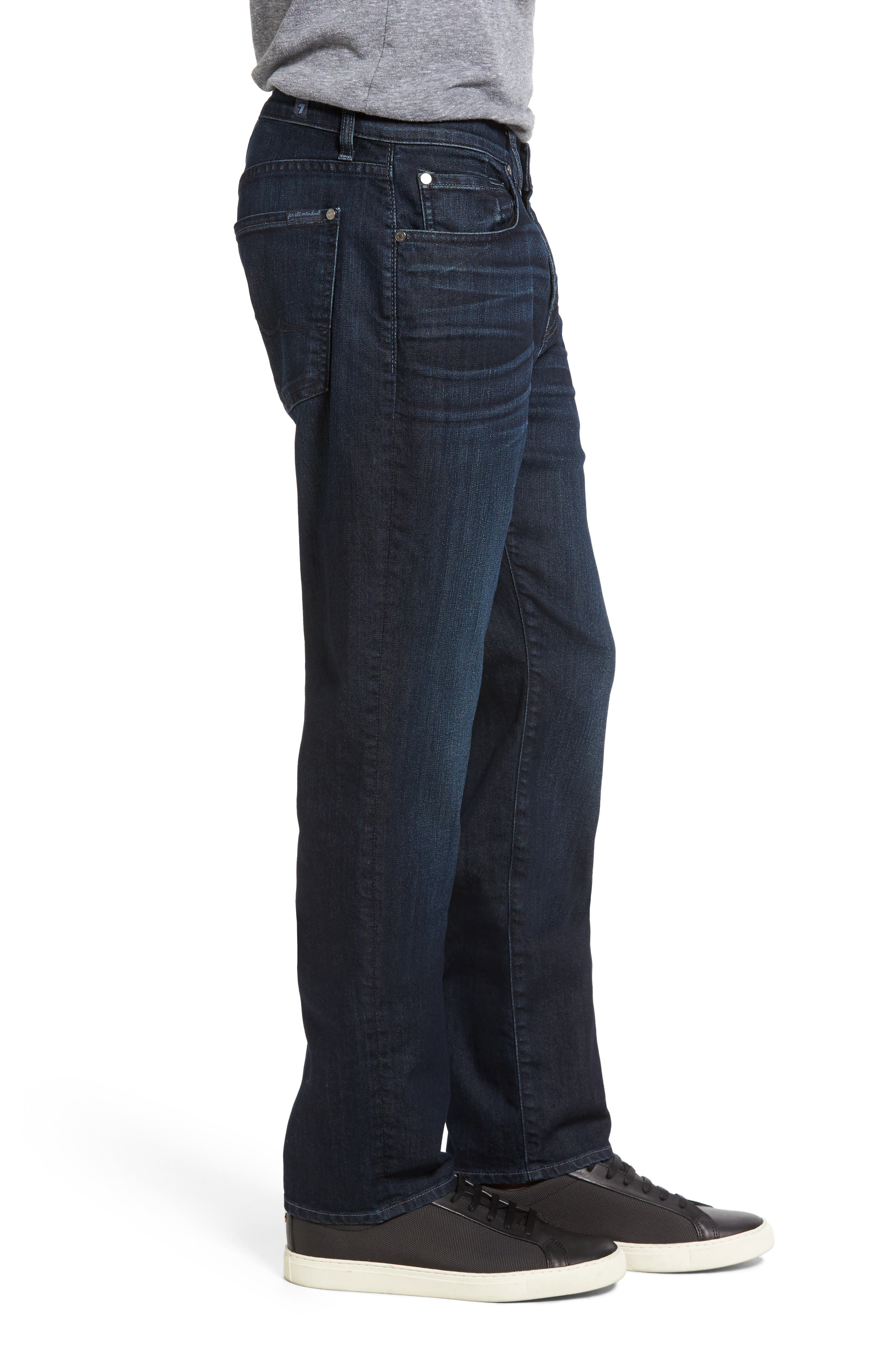 7 FOR ALL MANKIND<SUP>®</SUP>,                             The Straight Airweft Slim Straight Slim Leg Jeans,                             Alternate thumbnail 3, color,                             PERENNIAL