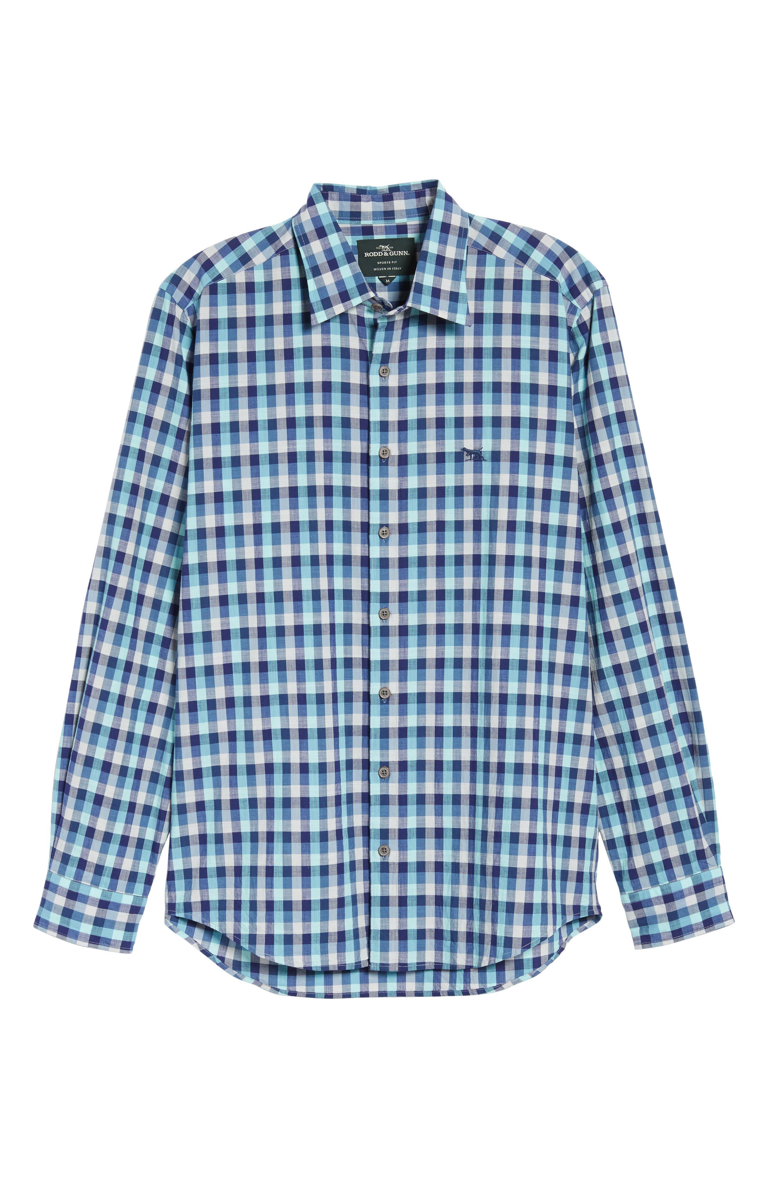 Larson Regular Fit Check Sport Shirt,                             Alternate thumbnail 6, color,