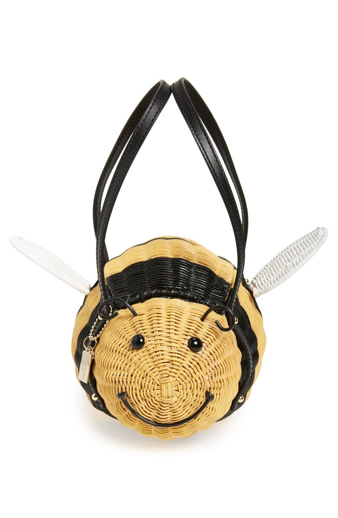 'bee' wicker handbag,                             Main thumbnail 1, color,                             250