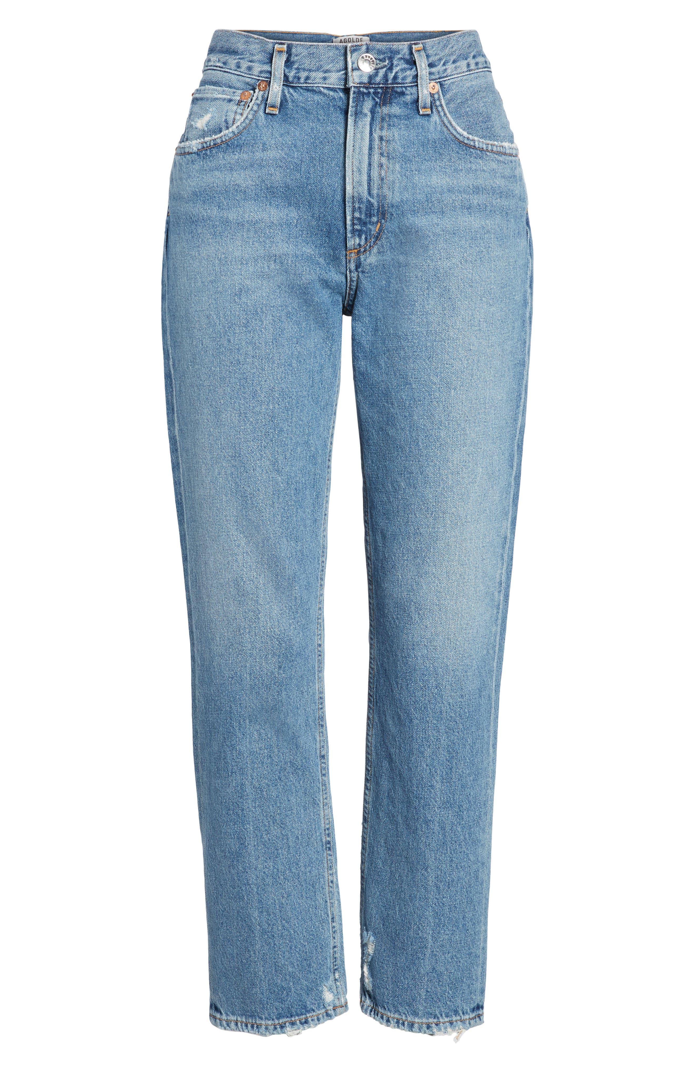 Cigarette High Waist Jeans,                             Alternate thumbnail 6, color,                             PASSENGER