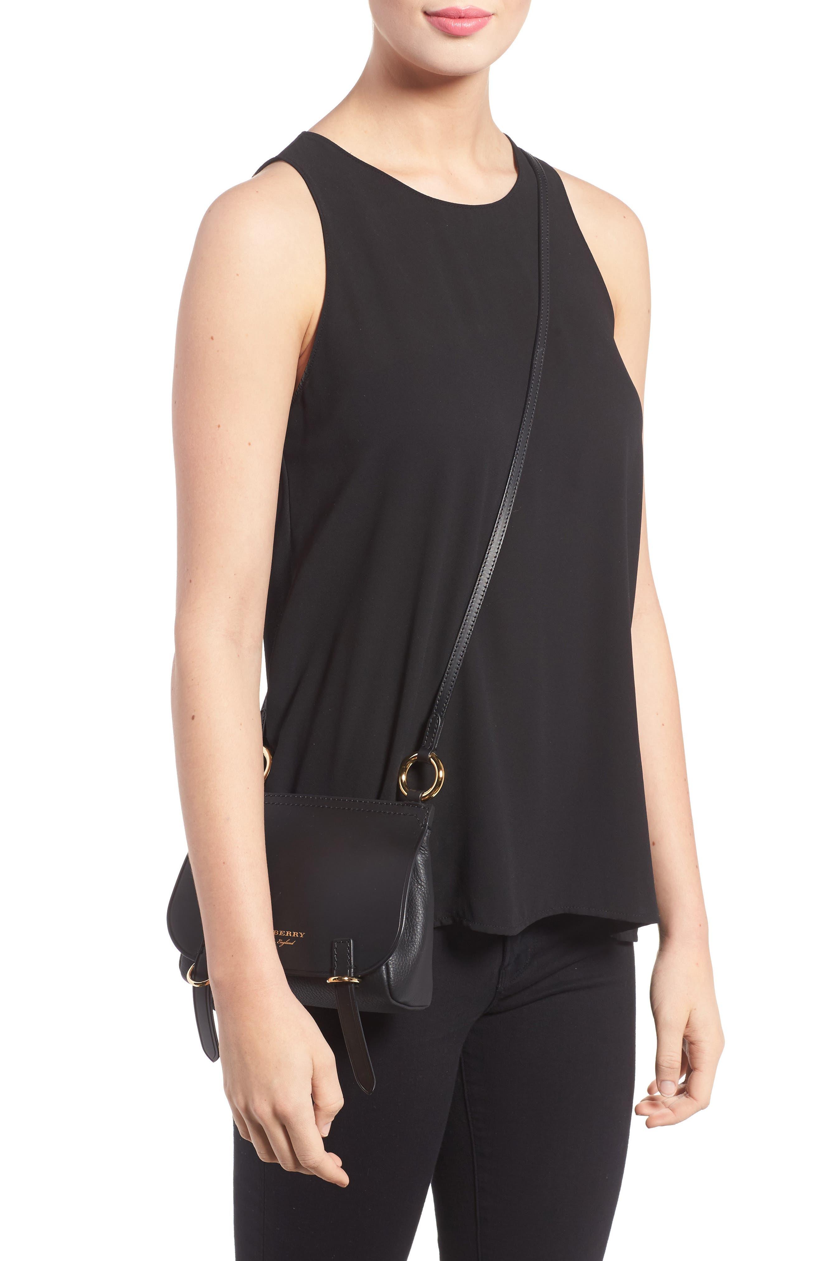 Bridle Leather Shoulder Bag,                             Alternate thumbnail 3, color,