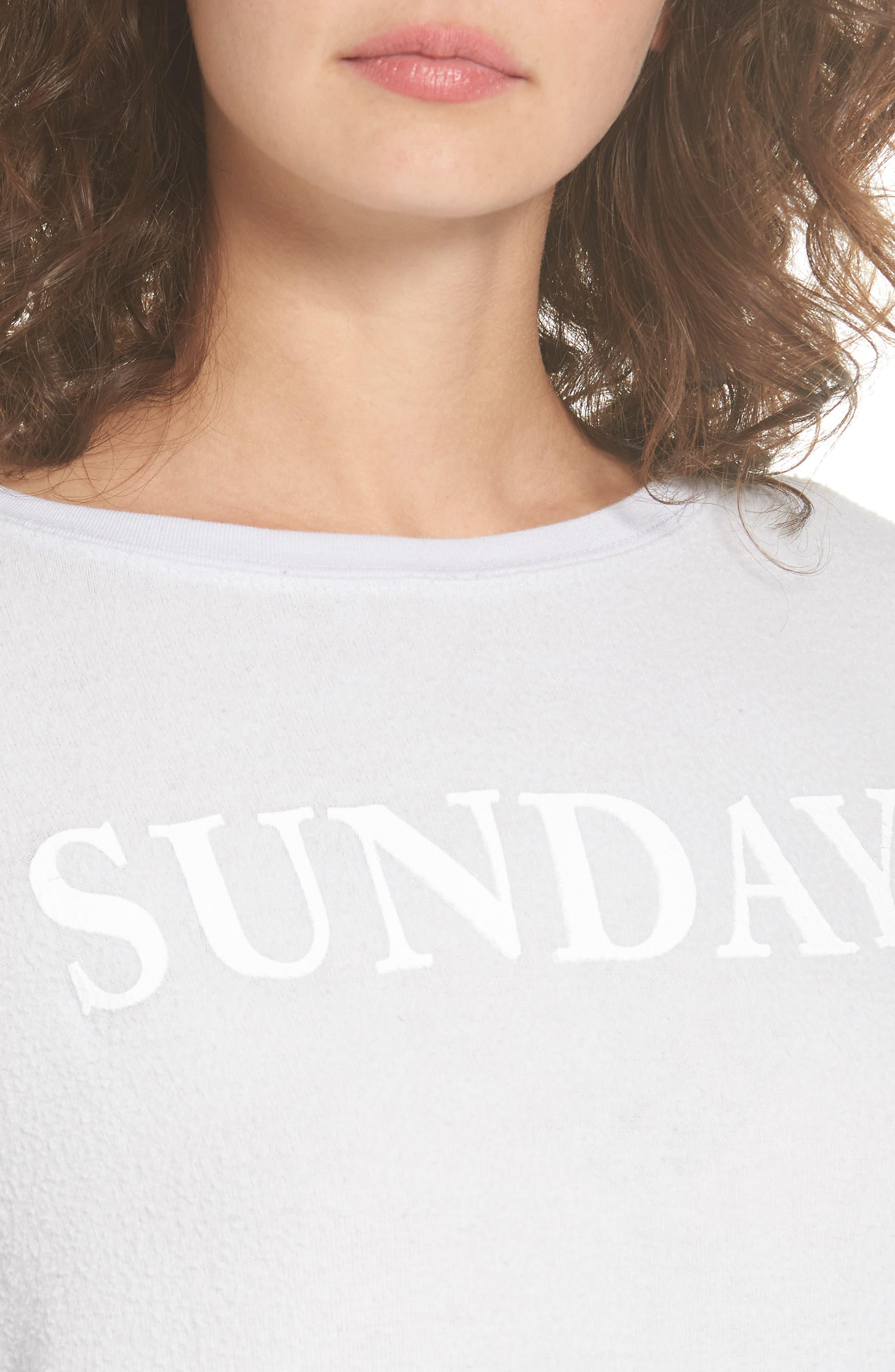Sunday Sweatshirt,                             Alternate thumbnail 4, color,                             450