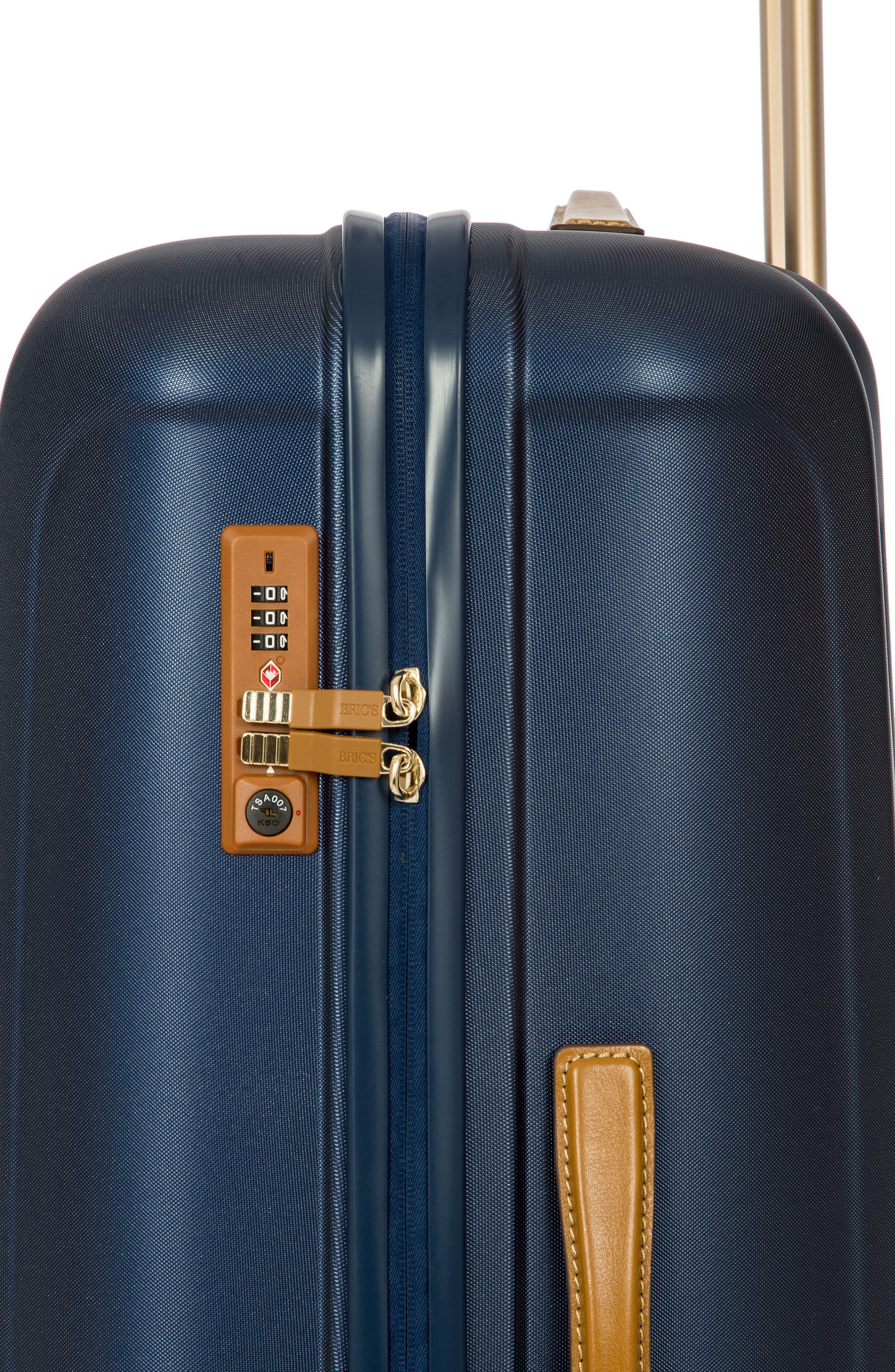 Capri 30-Inch Rolling Suitcase,                             Alternate thumbnail 3, color,                             MATTE BLUE