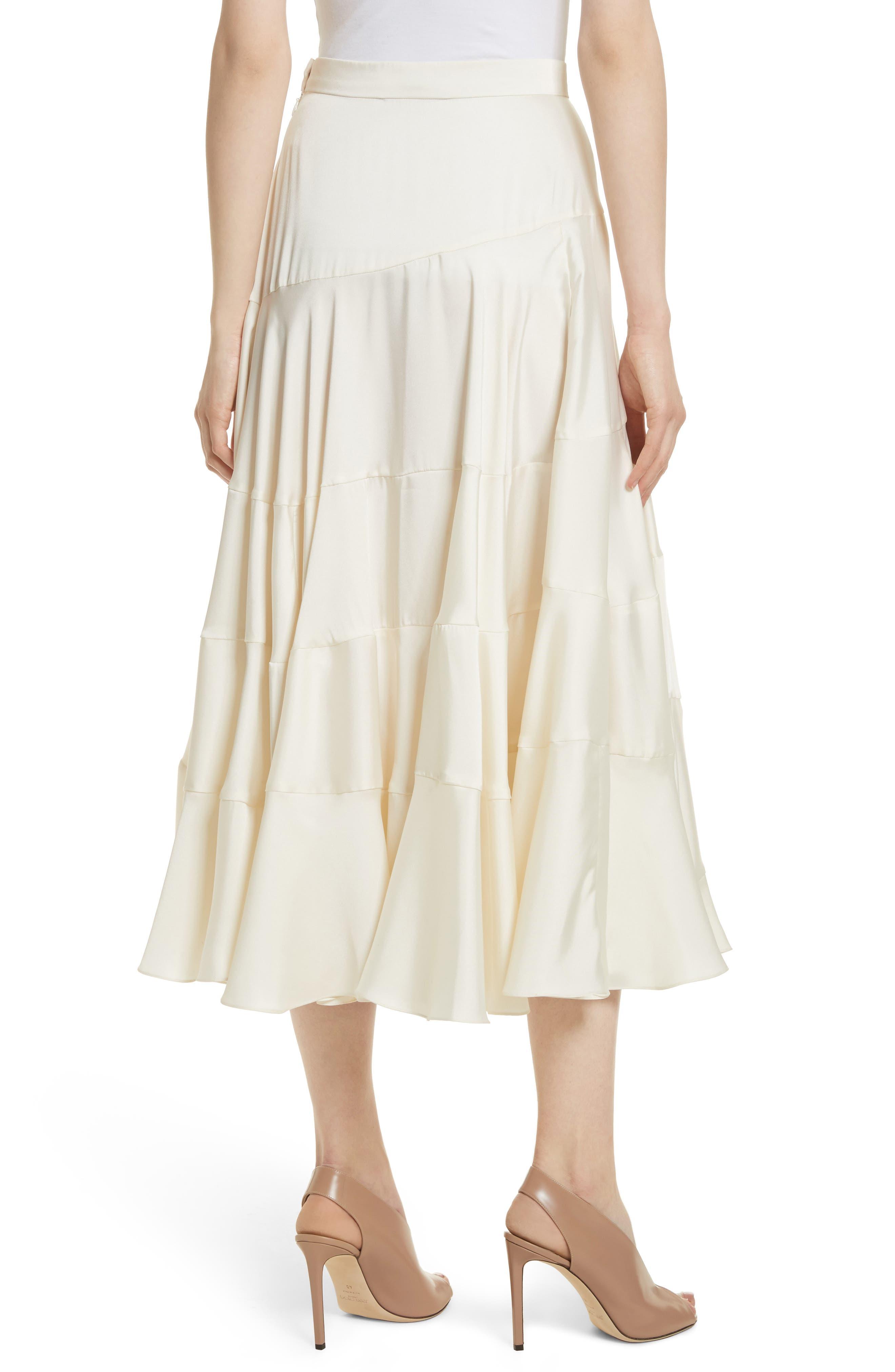 Lasse Satin Paneled Midi Skirt,                             Alternate thumbnail 3, color,
