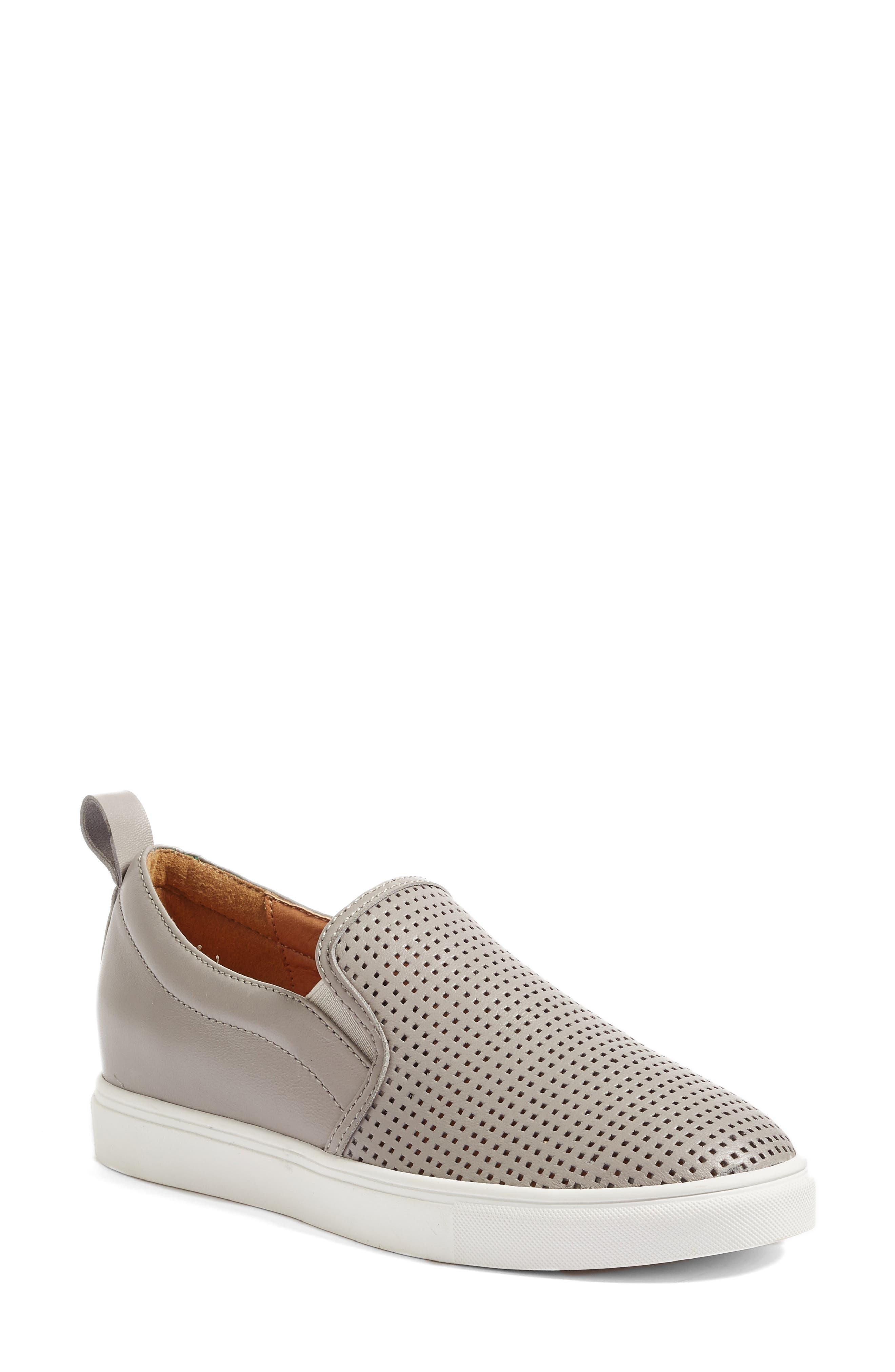 Eden Perforated Slip-On Sneaker,                             Alternate thumbnail 7, color,
